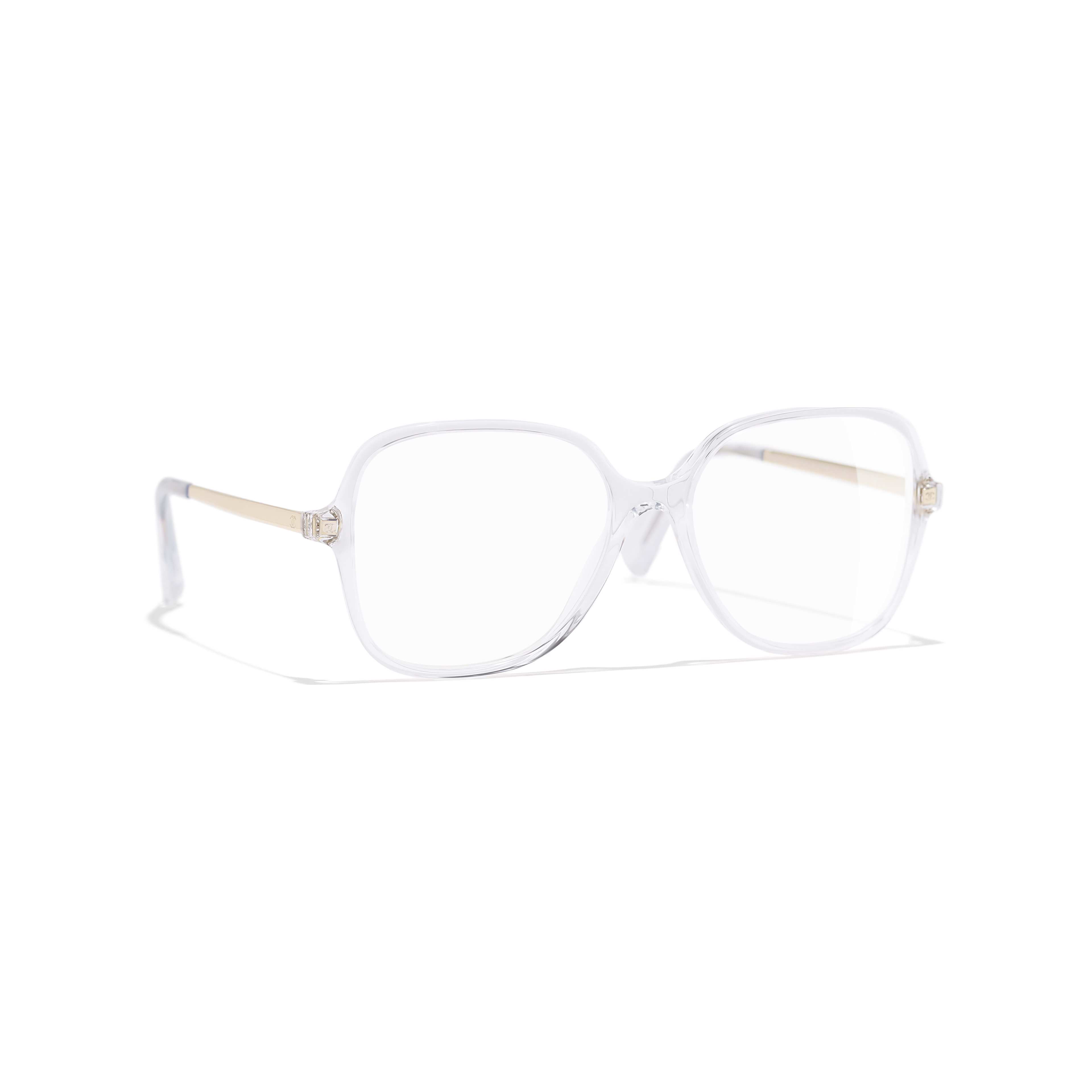 Square Eyeglasses - Transparent - Acetate & Metal - Default view - see standard sized version