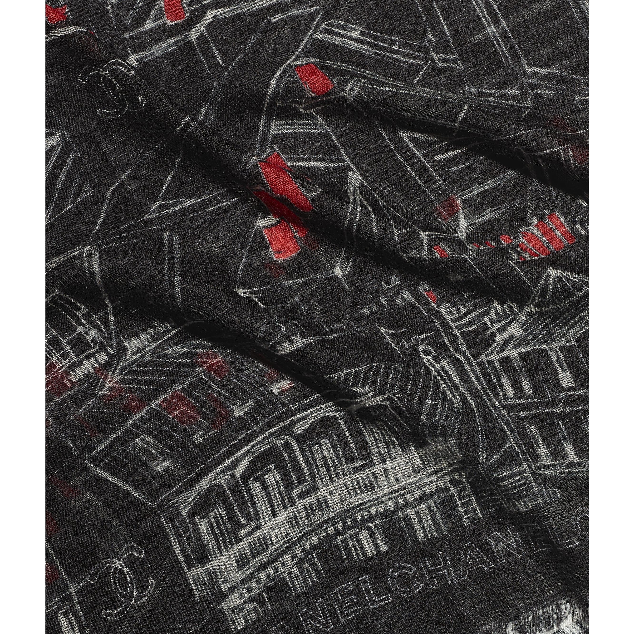 Pañuelo cuadrado - Negro, rojo y blanco - Cachemire - CHANEL - Vista por defecto - ver la versión tamaño estándar