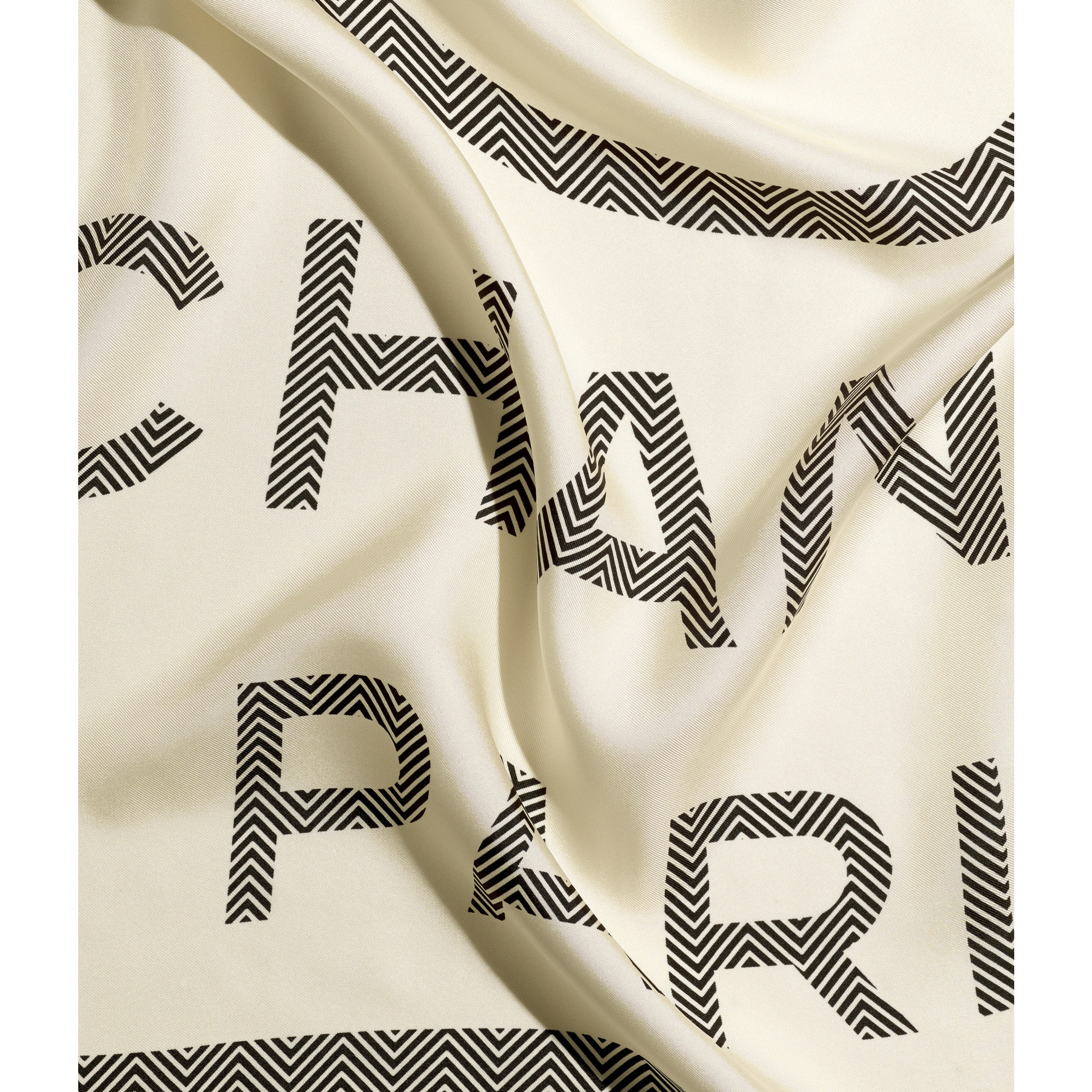 Square Scarf - Ivory - Silk Twill - CHANEL - Default view - see standard sized version