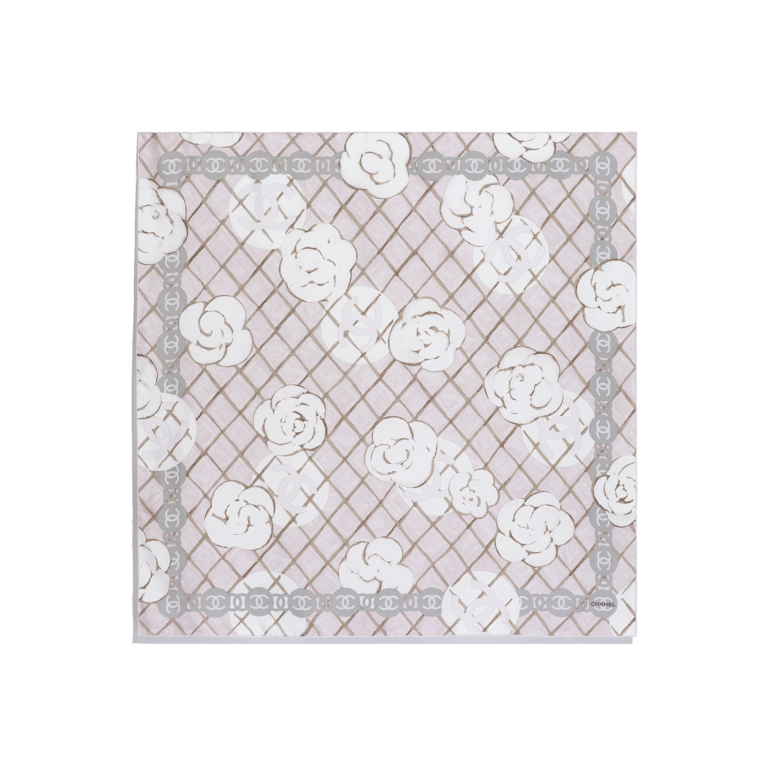 Square Scarf - Light Pink - Silk Twill - Other view - see standard sized version
