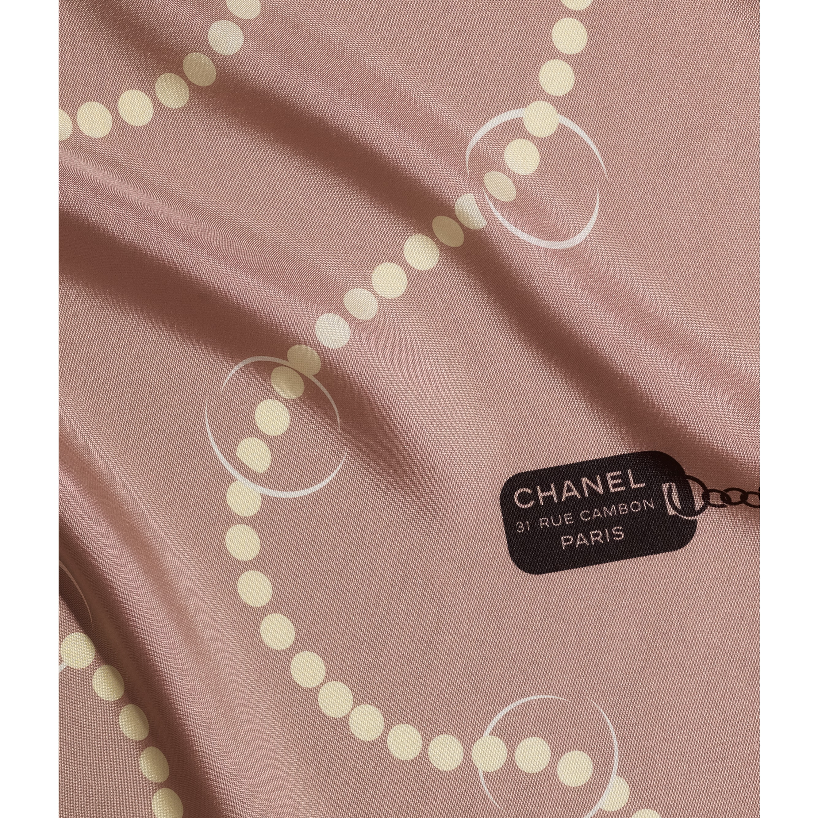 Square Scarf - Pale Pink - Silk Twill - CHANEL - Default view - see standard sized version