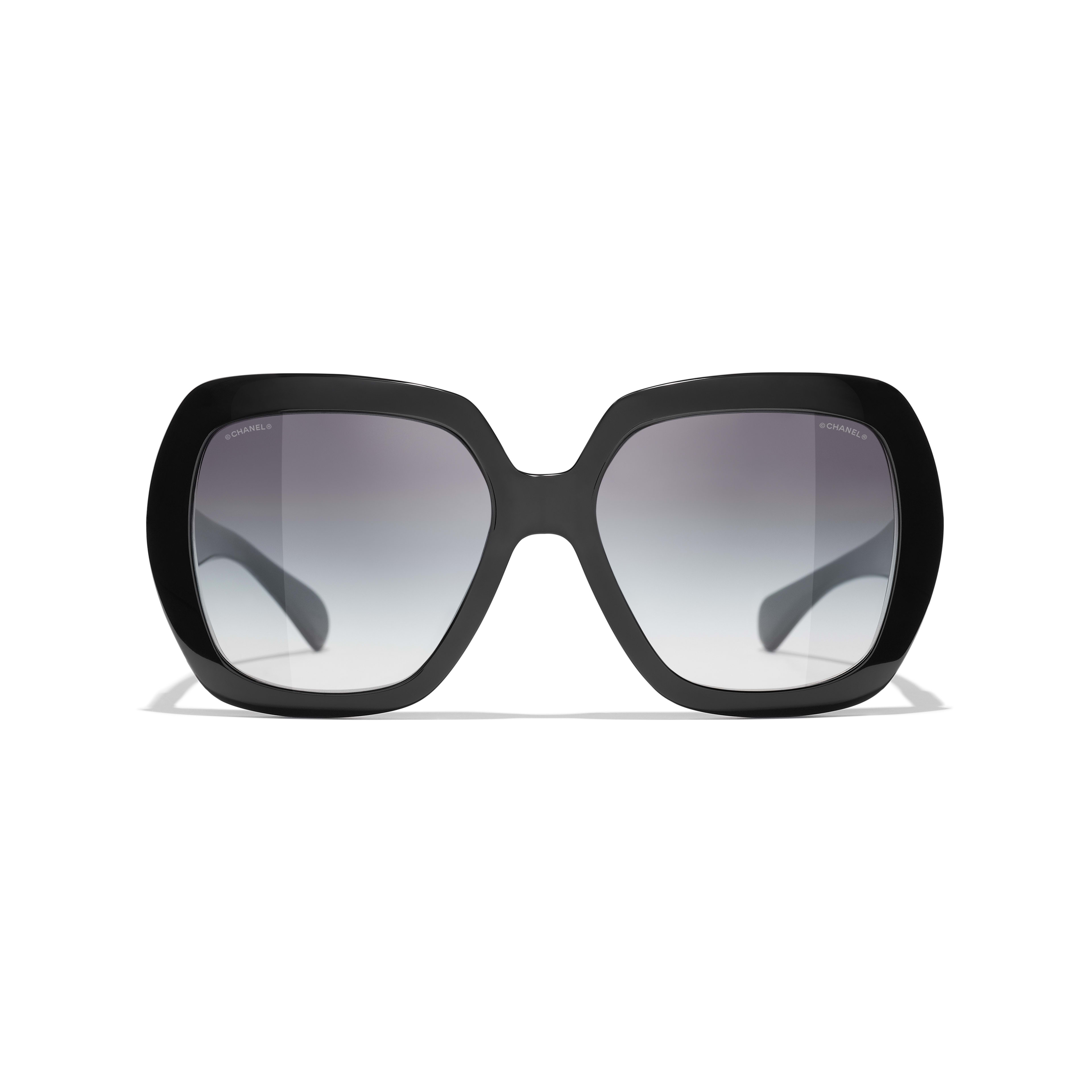 Square Sunglasses - Black - Acetate - CHANEL - Alternative view - see standard sized version