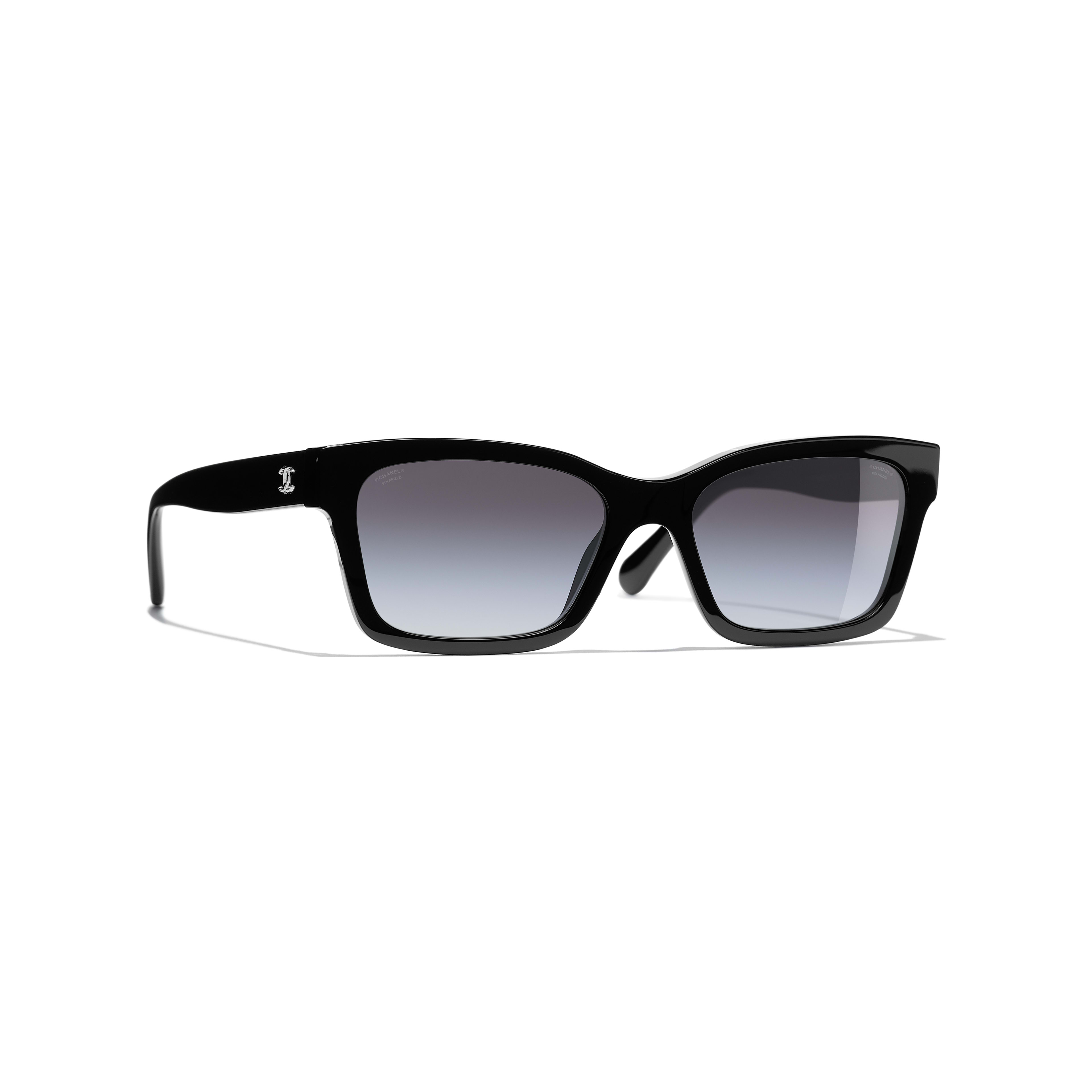 Square Sunglasses - Black - Acetate - CHANEL - Default view - see standard sized version