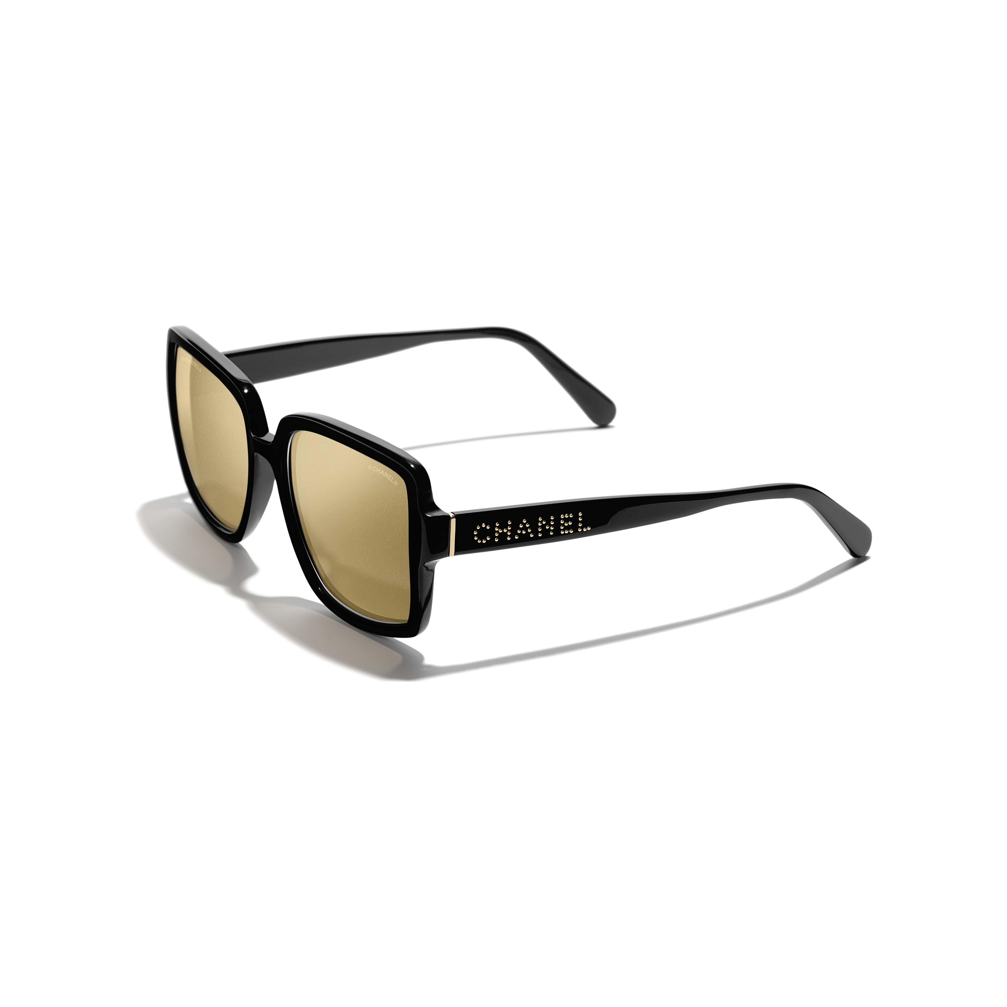 Square Sunglasses - Black - Acetate - Extra view - see standard sized version