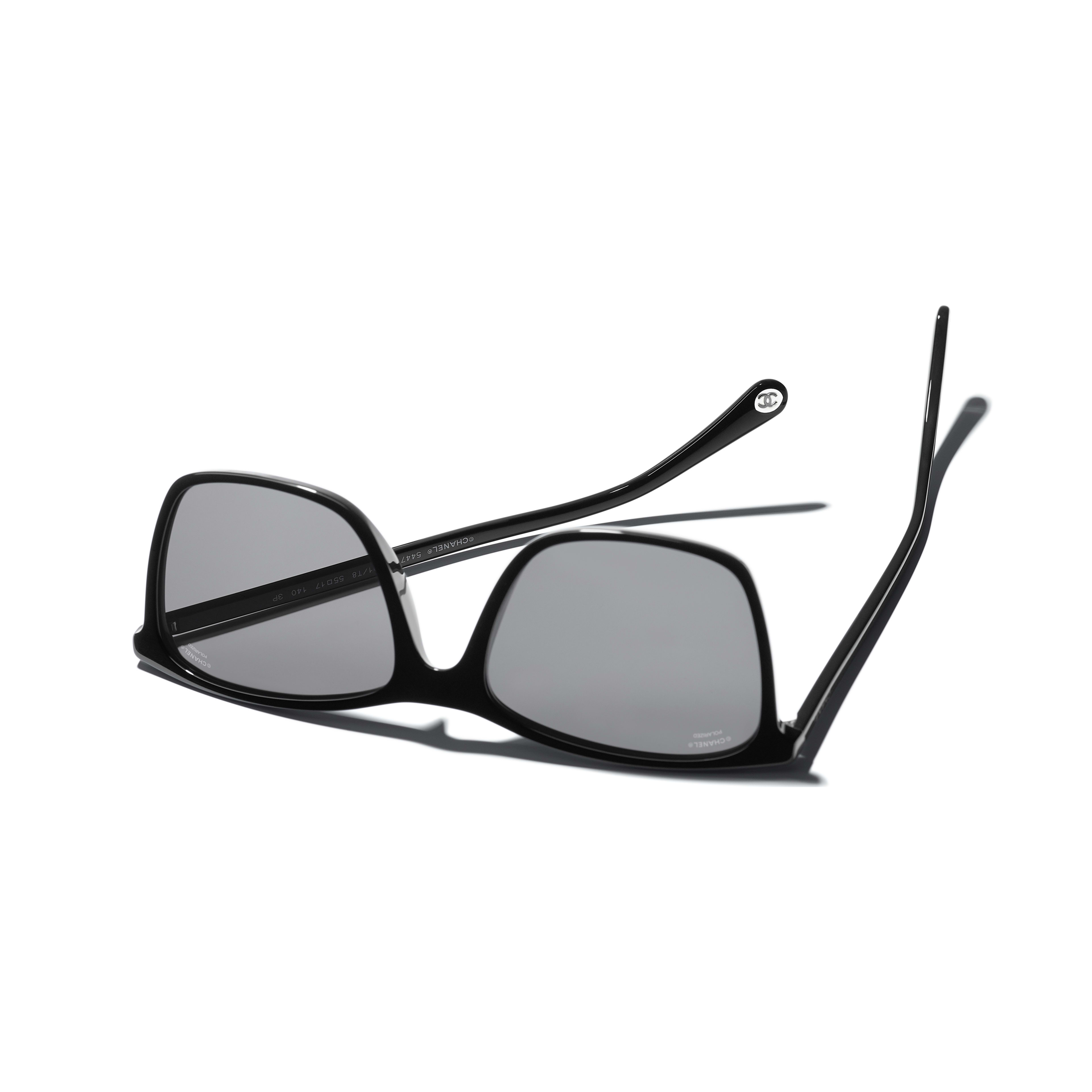 Square Sunglasses - Black - Acetate - CHANEL - Extra view - see standard sized version
