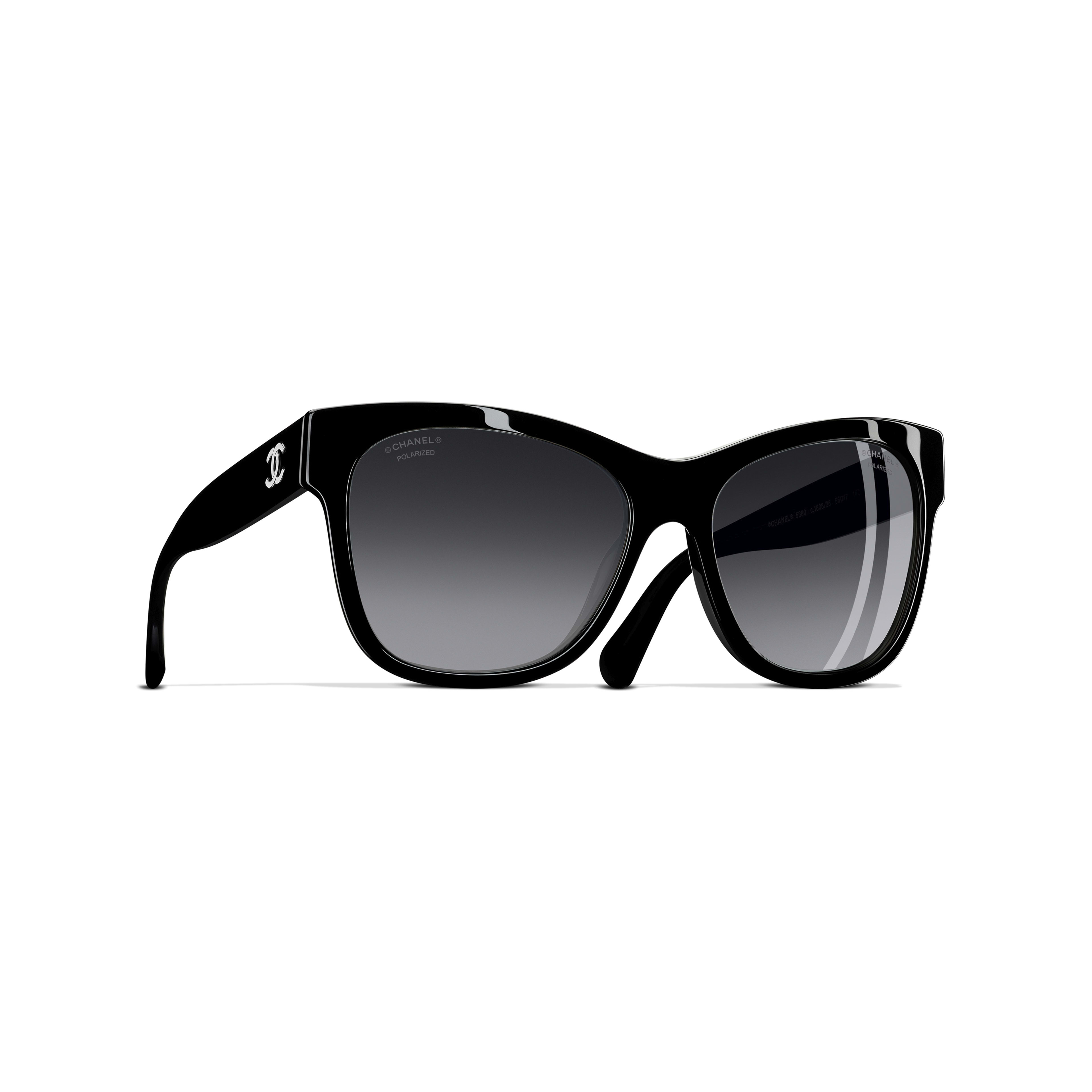 5501bd2634 ... Square Sunglasses - Black - Acetate - Polarized Lenses - Default view -  see standard sized