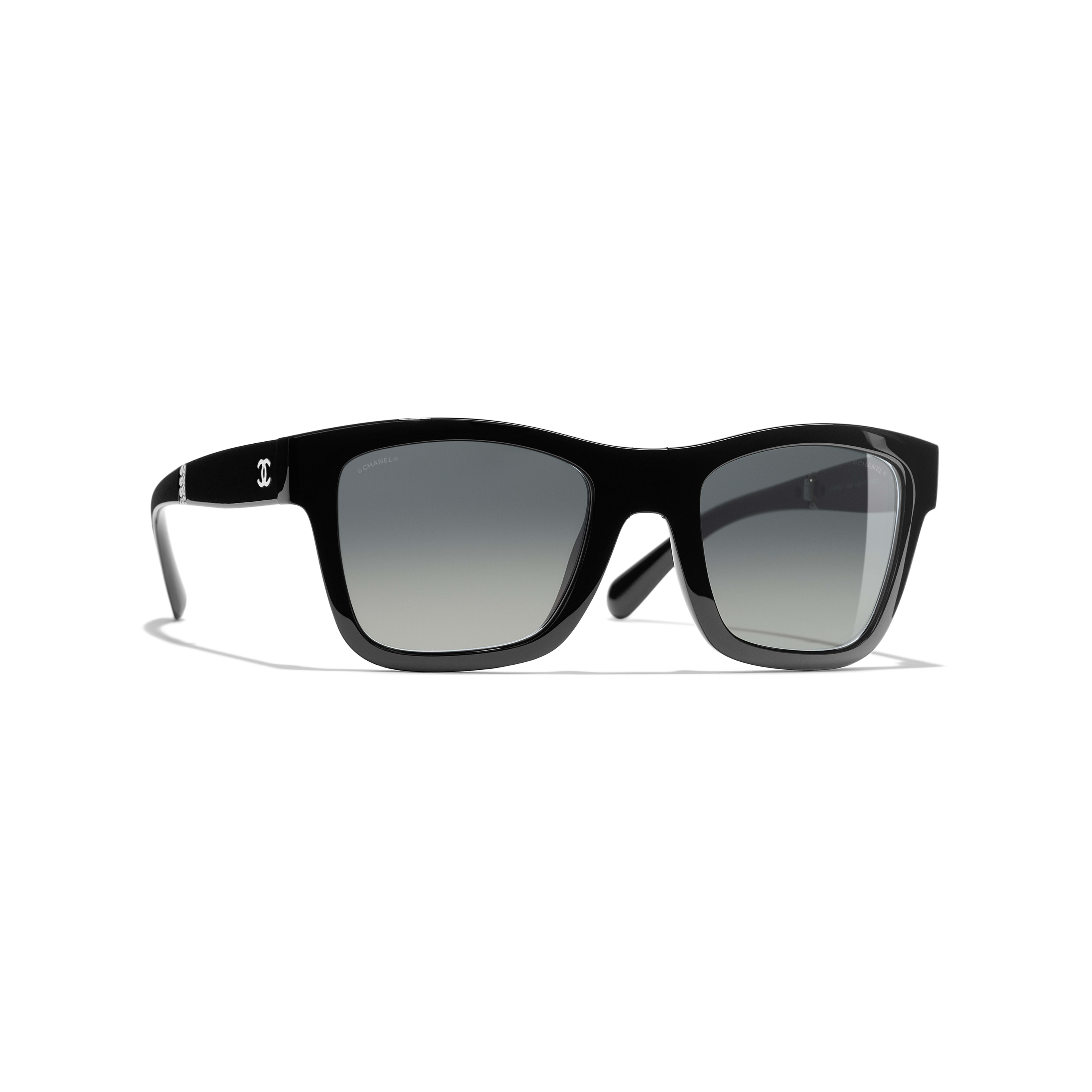 c4a8d5b9801 ... Square Sunglasses - Black - Nylon   Metal - Default view - see standard  sized version