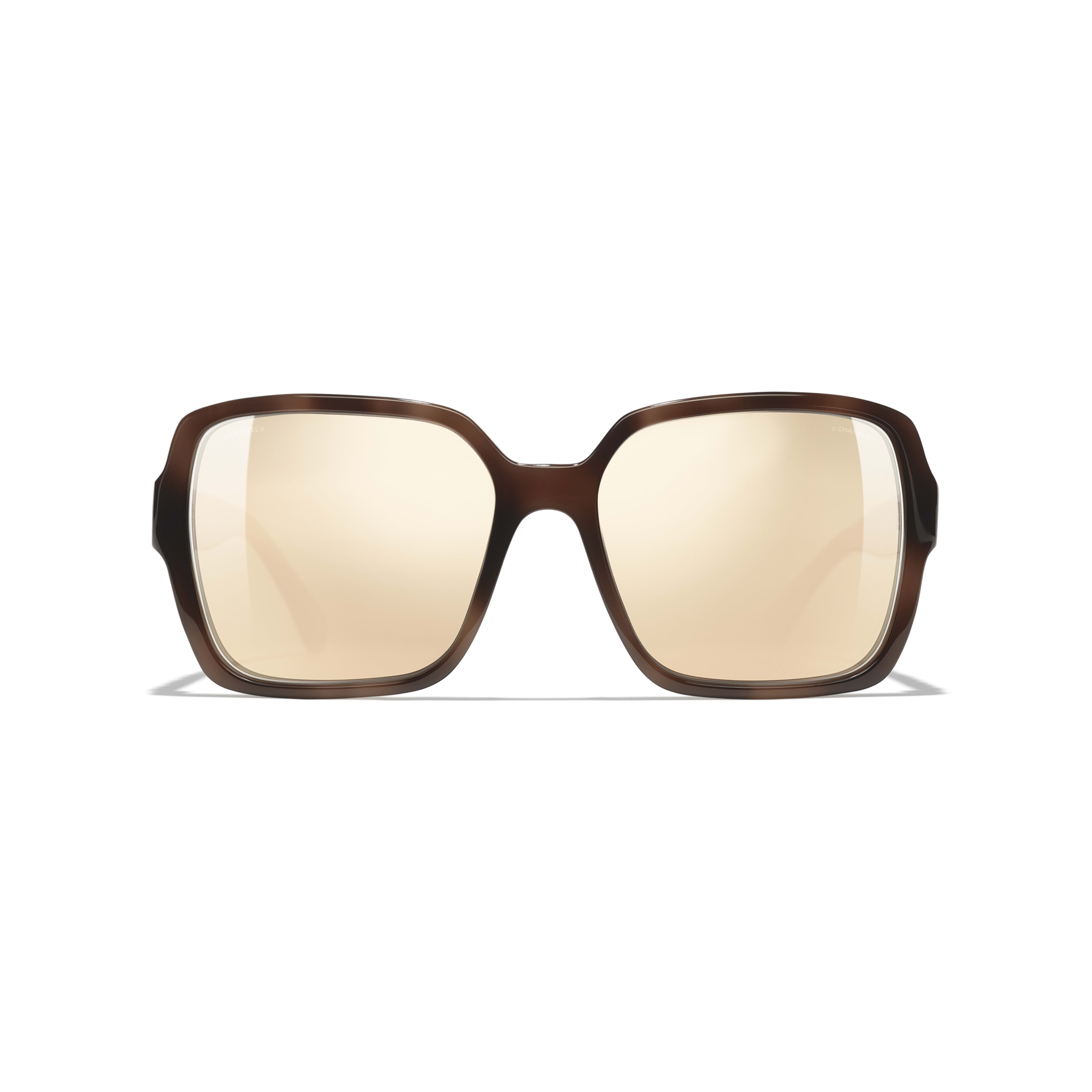Square Sunglasses - Brown - Acetate - Alternative view - see standard sized version