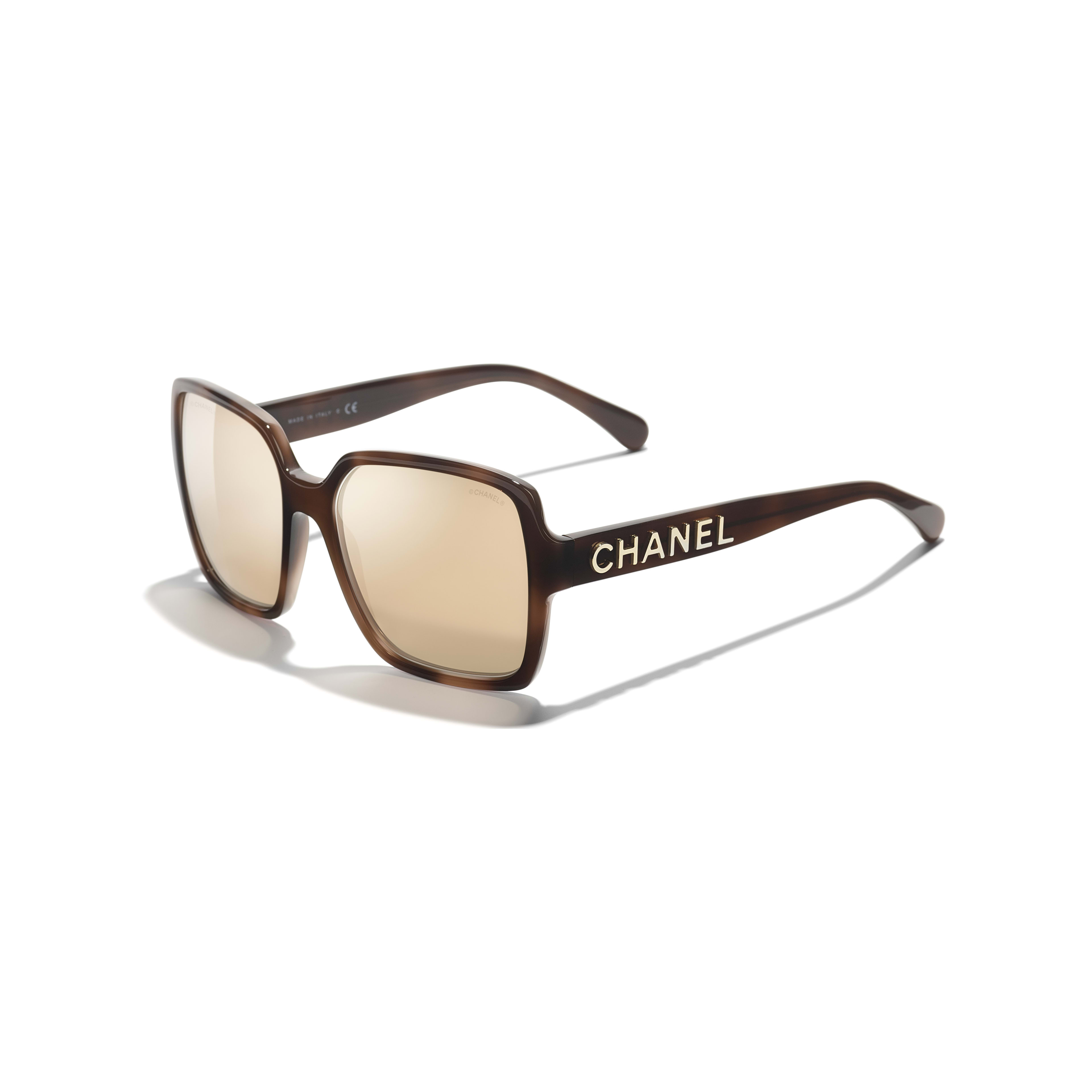 Square Sunglasses - Brown - Acetate - Extra view - see standard sized version