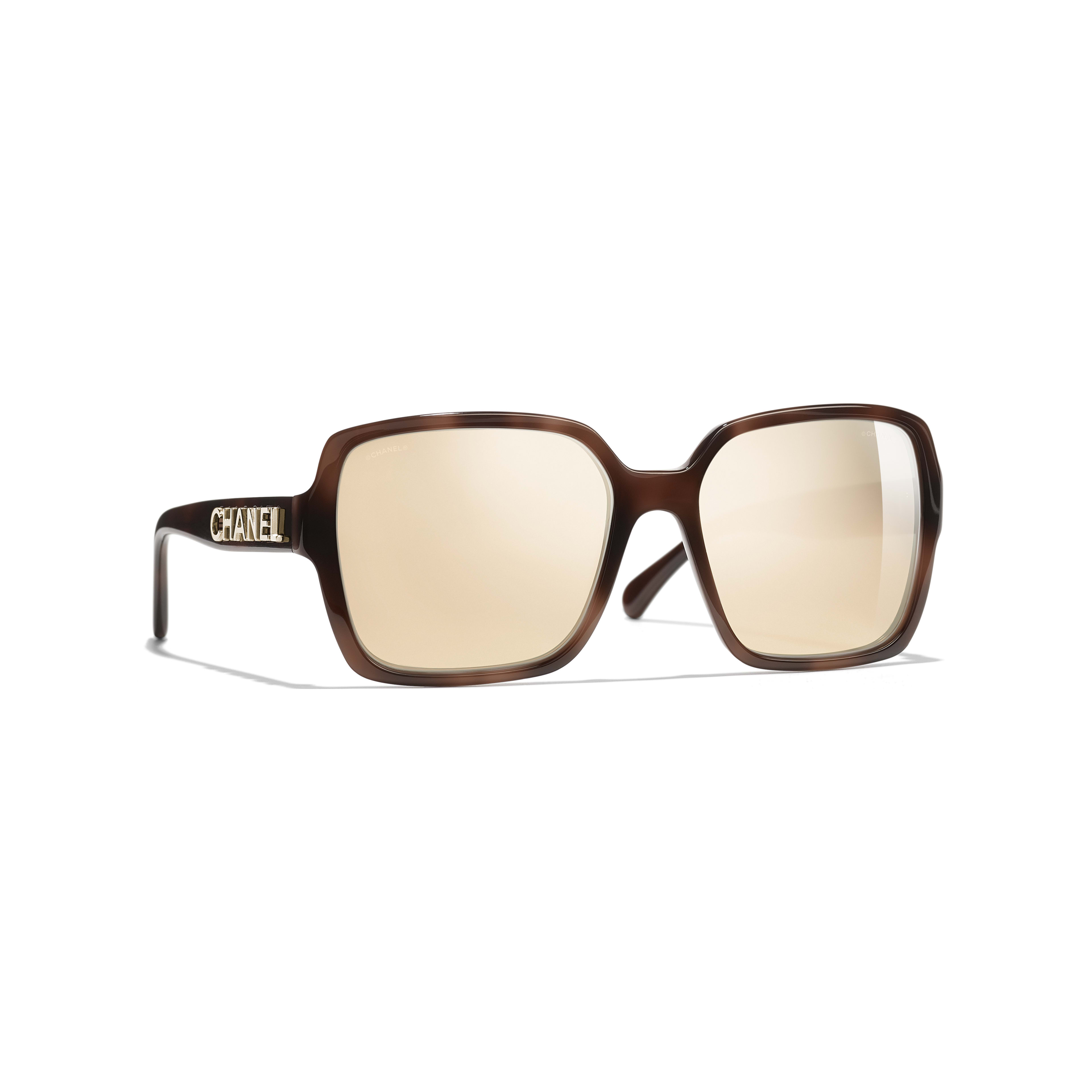 8628994a098 Square Sunglasses - Brown - Acetate - Gold Lenses - Default view - see full  sized ...