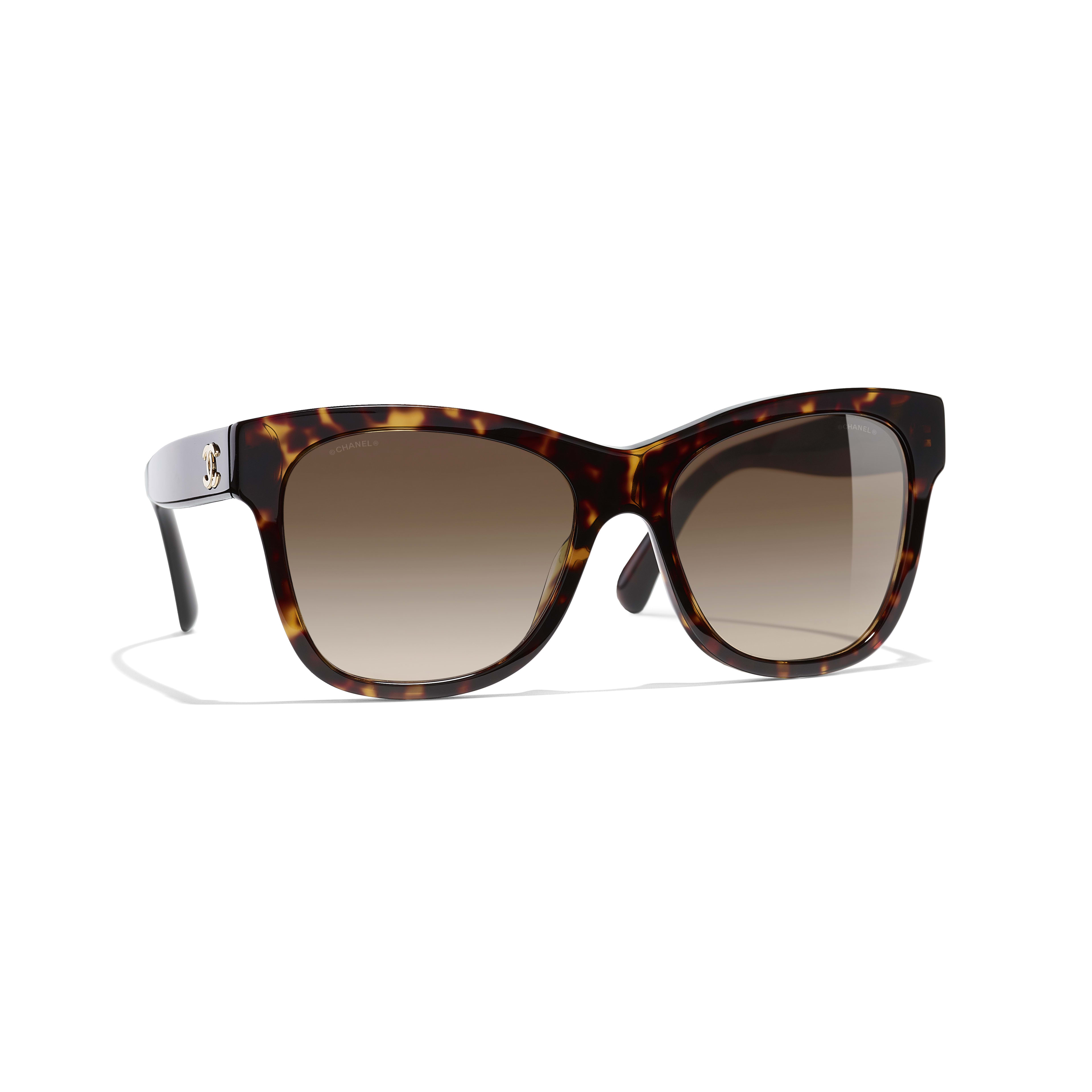 Square Sunglasses - Dark Tortoise - Acetate - CHANEL - Default view - see standard sized version