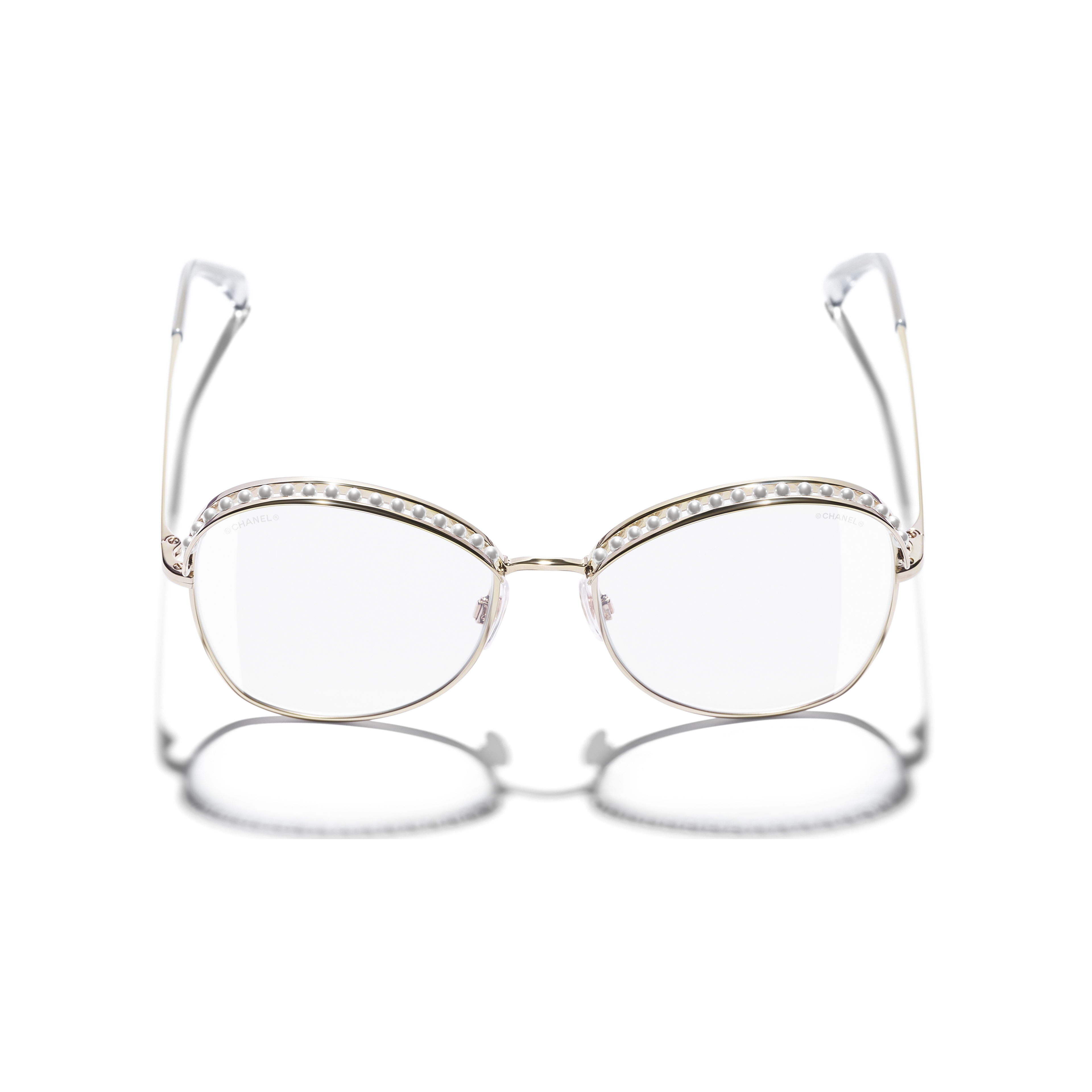 Square Sunglasses - Gold - Metal & Imitation Pearls - Extra view - see standard sized version
