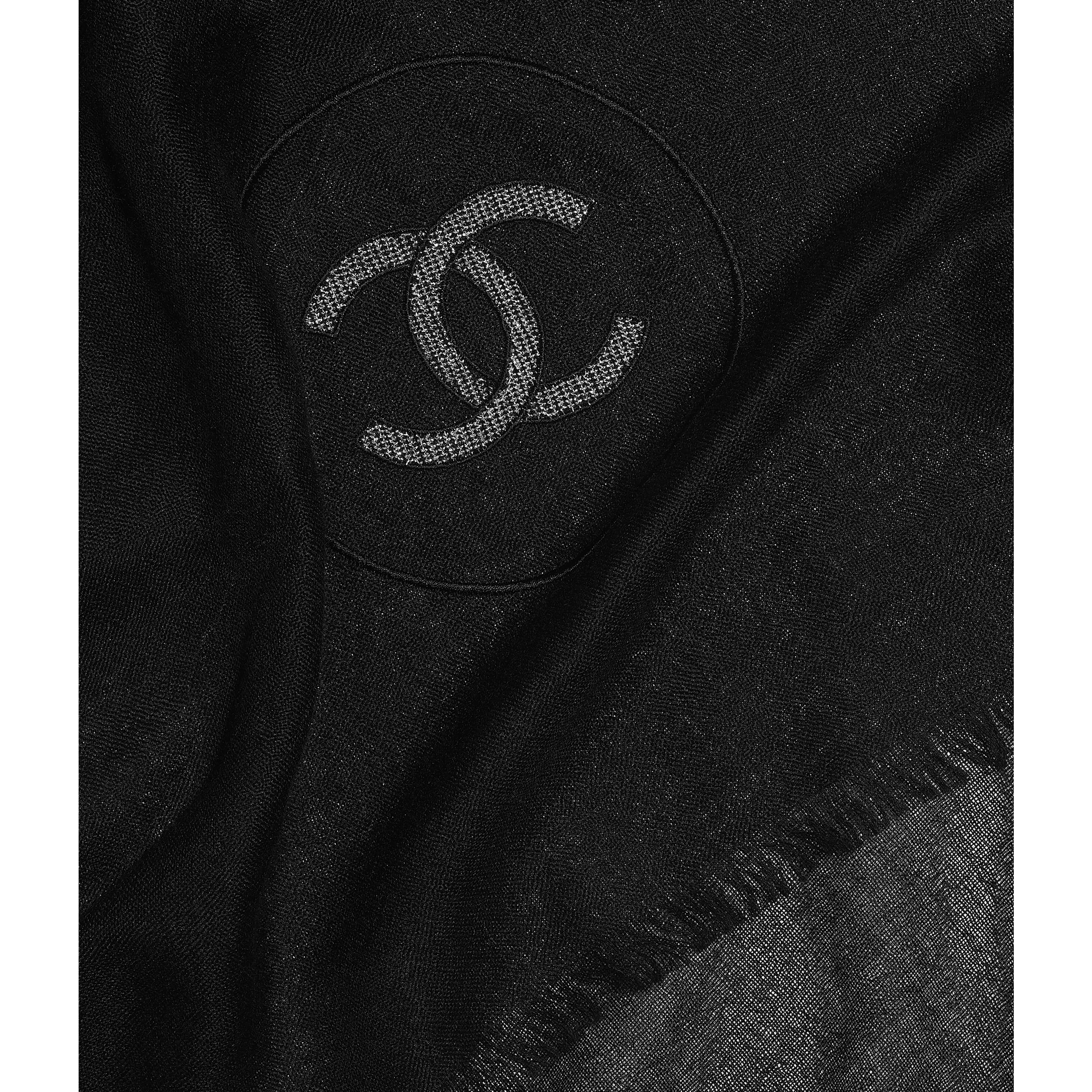 Stole - Black - Cashmere, Silk & Metallic Fibers - CHANEL - Default view - see standard sized version