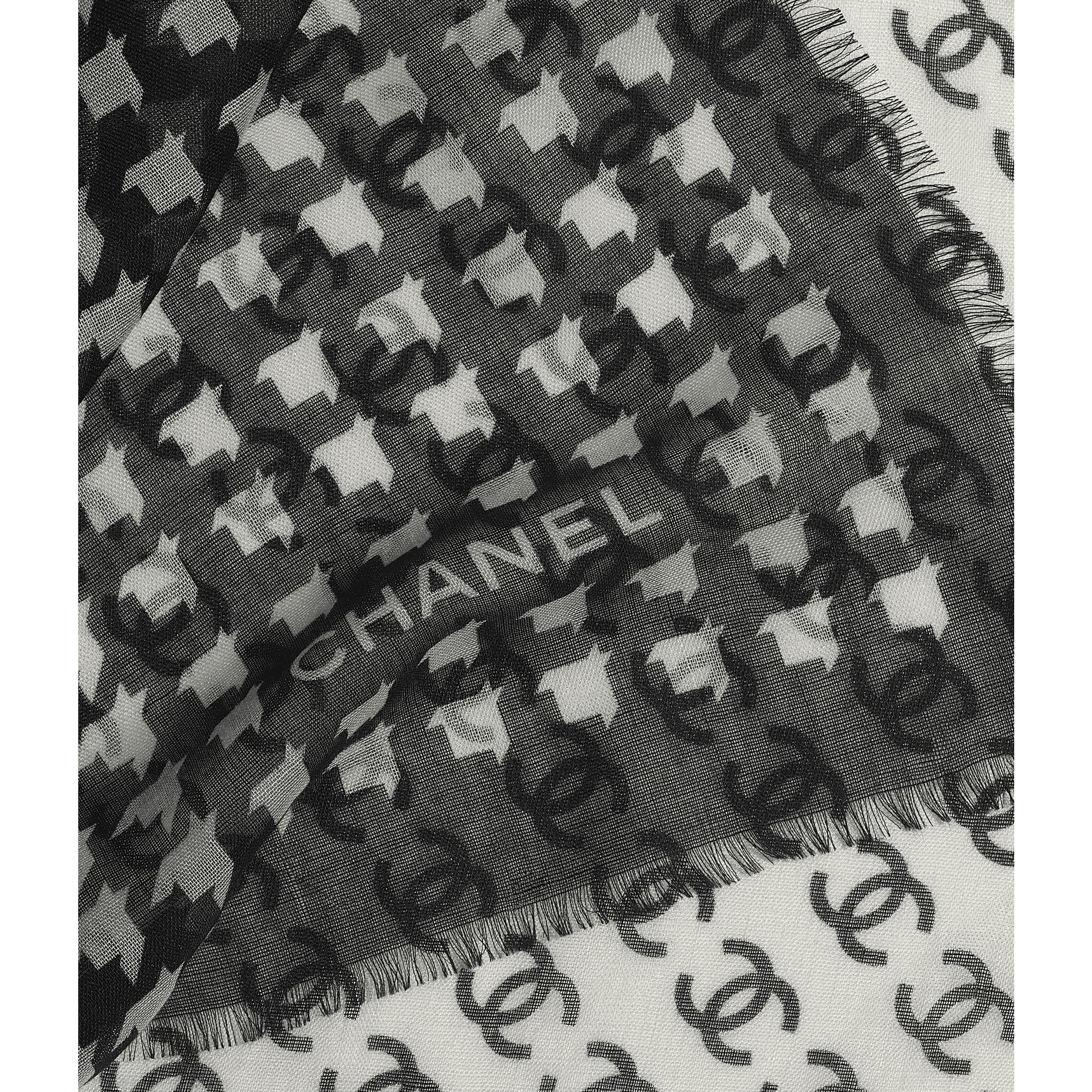 Stole - Black & Ecru - Cashmere & Silk - CHANEL - Default view - see standard sized version
