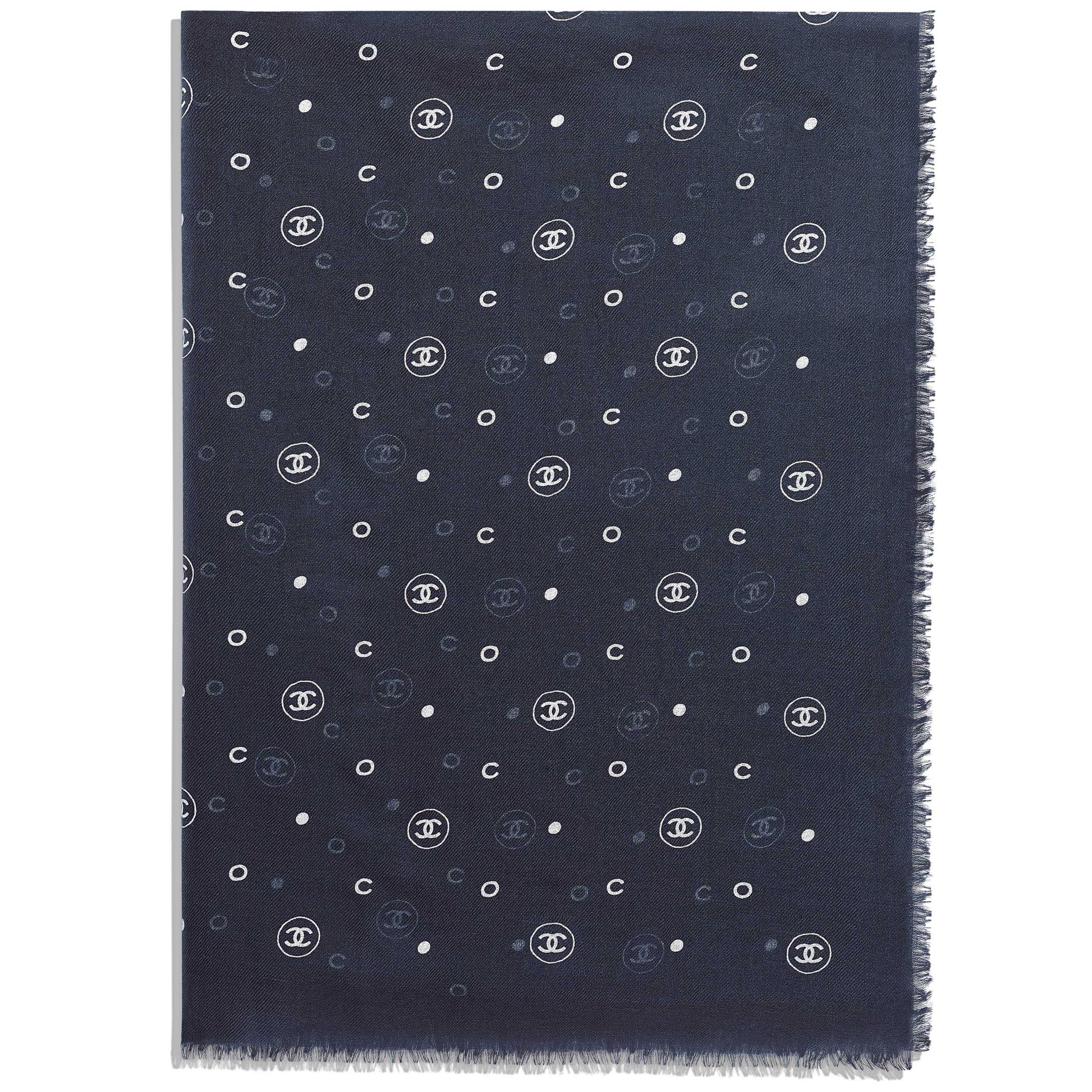 Stole - Navy Blue - Cashmere - Alternative view - see standard sized version