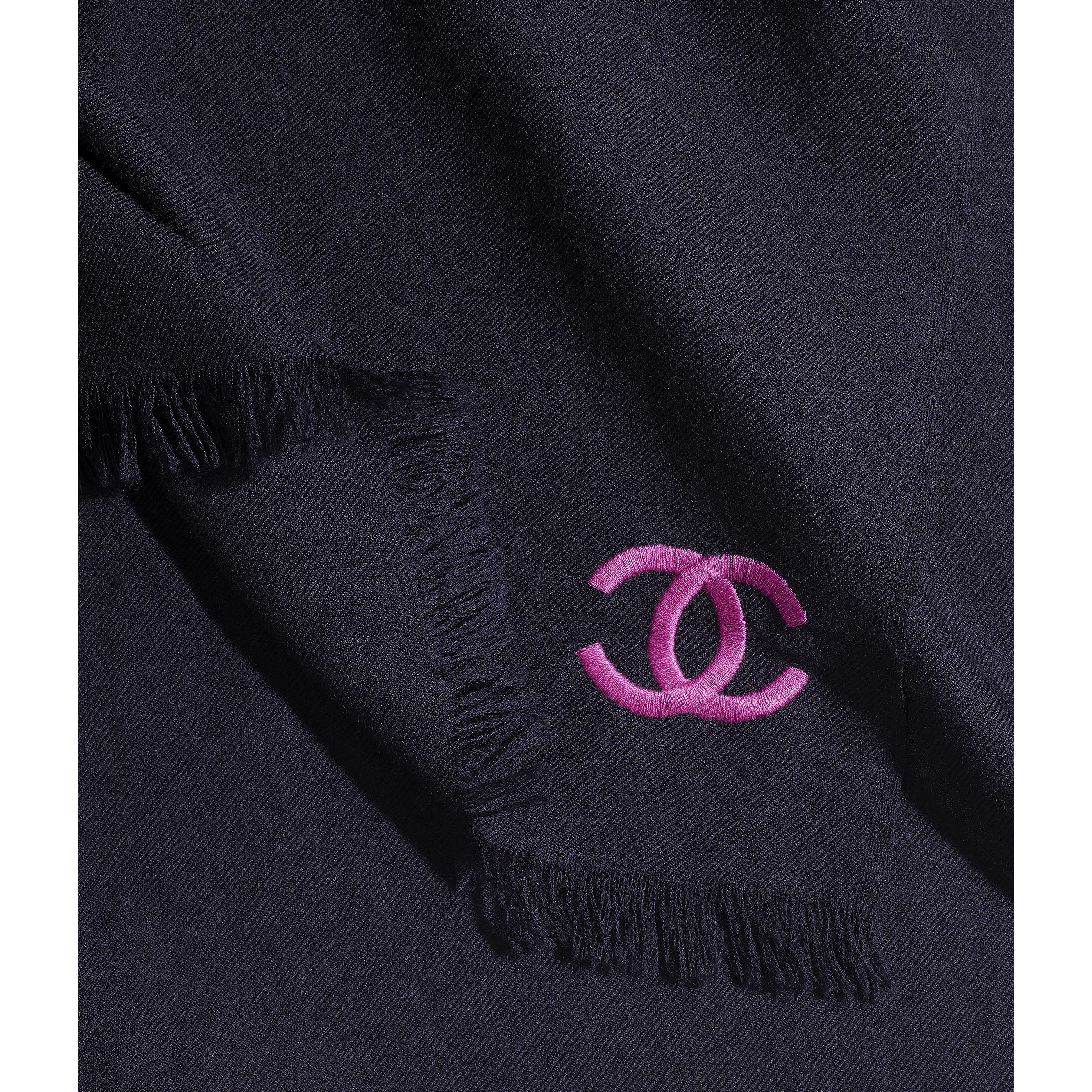 Stole - Navy Blue - Cashmere - Default view - see standard sized version