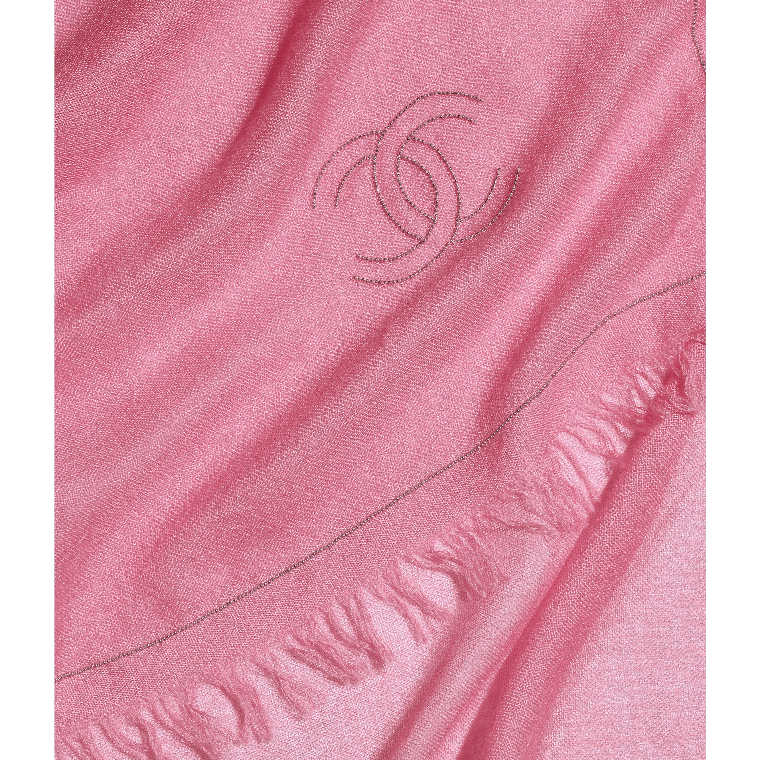 Stole - Pink - Cashmere, Silk & Metal - CHANEL - Default view - see standard sized version