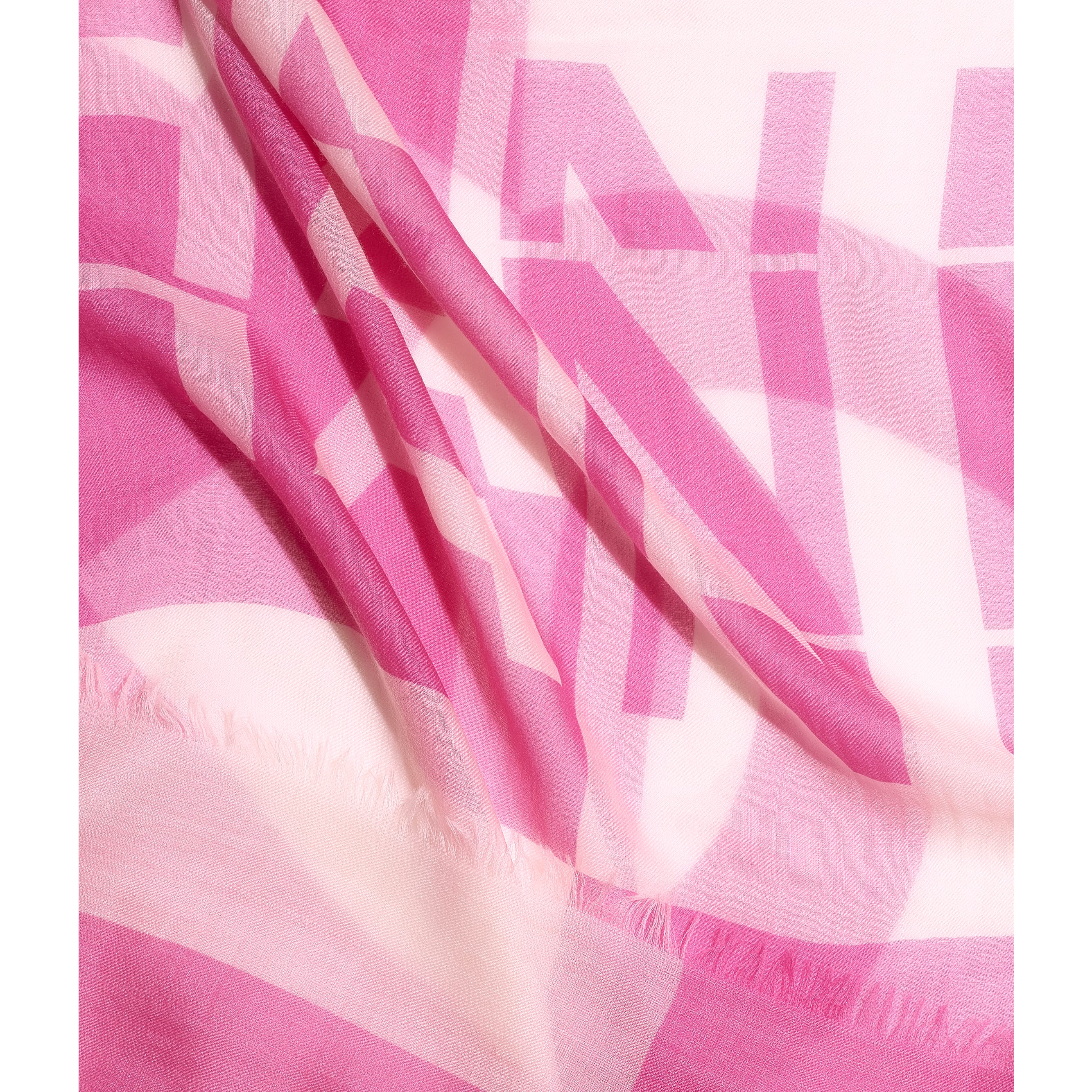 Stole - Pink & White - Cashmere - CHANEL - Default view - see standard sized version