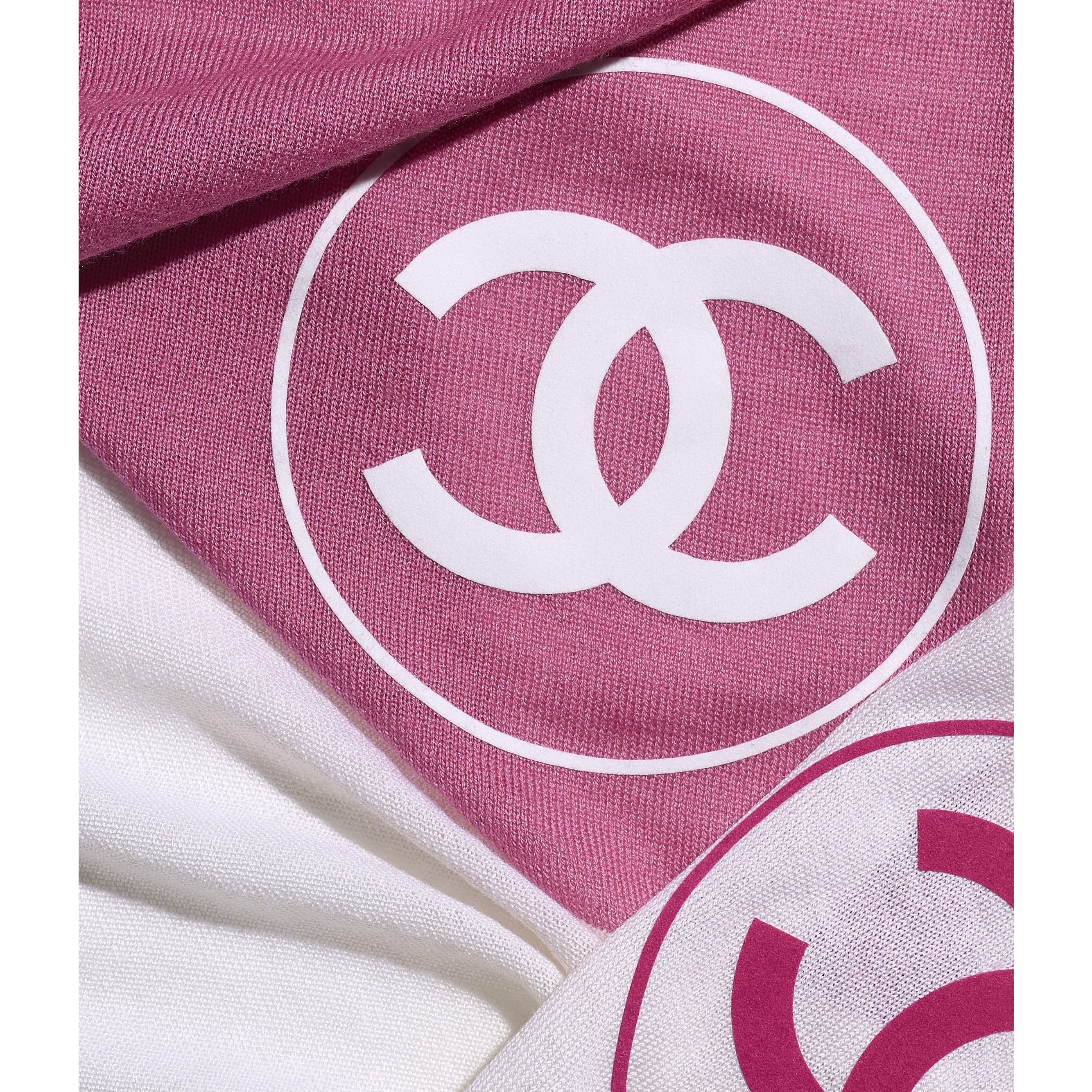 Stole - Pink & White - Wool - CHANEL - Default view - see standard sized version