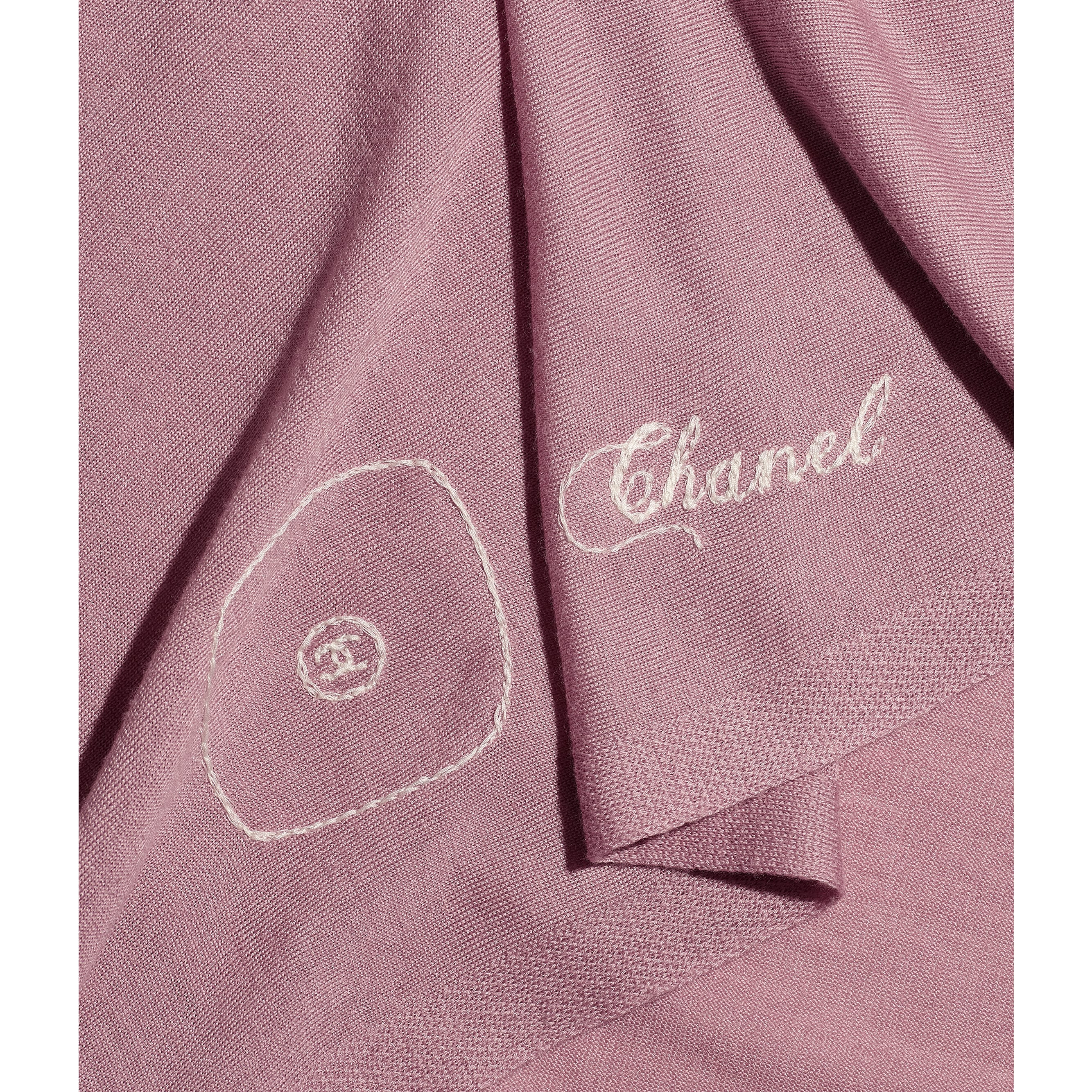 Stole - Pink - Wool, Silk & Cashmere - CHANEL - Default view - see standard sized version