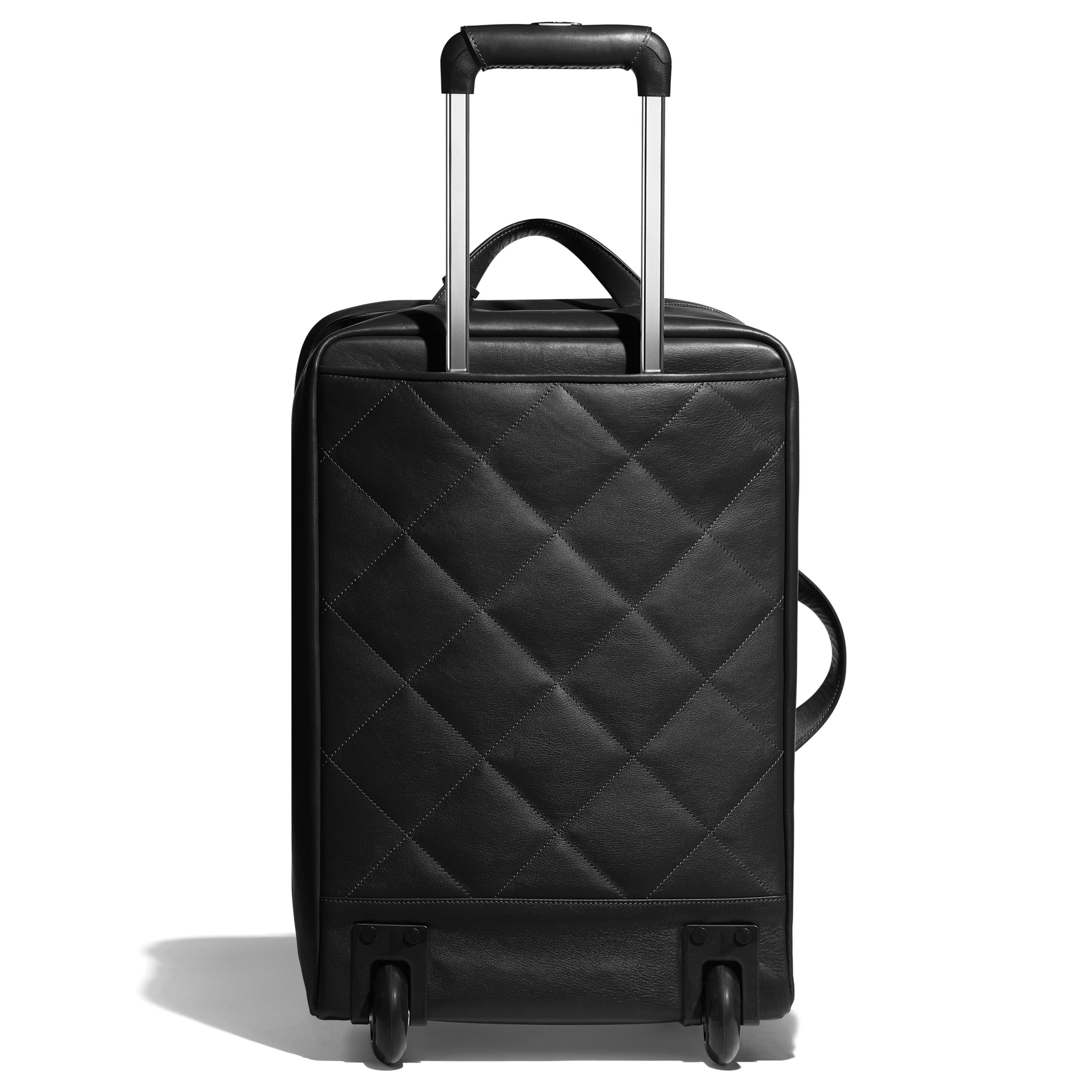 Trolley - Black - Calfskin & Silver-Tone Metal - CHANEL - Alternative view - see standard sized version