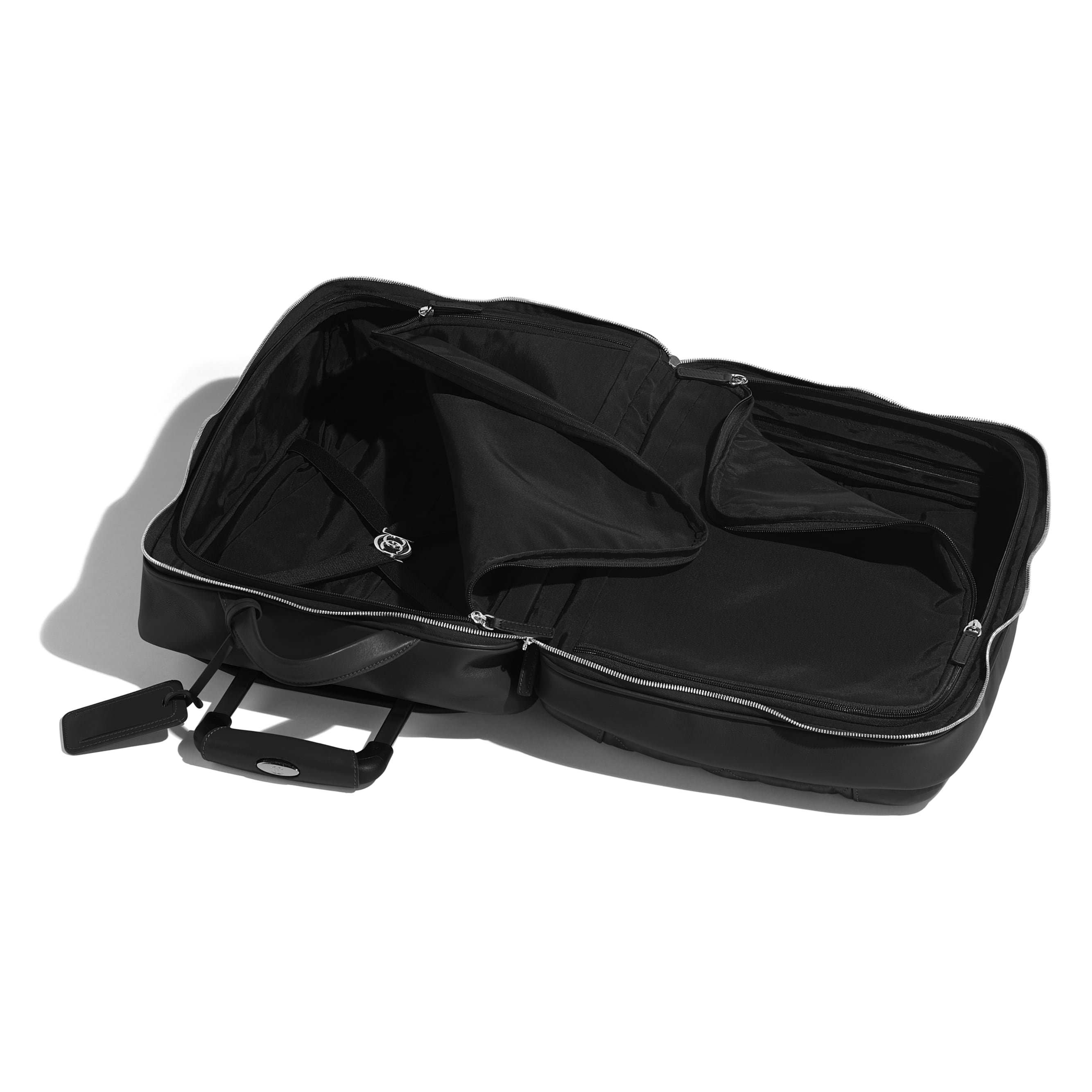 Trolley - Black - Calfskin & Silver-Tone Metal - CHANEL - Other view - see standard sized version