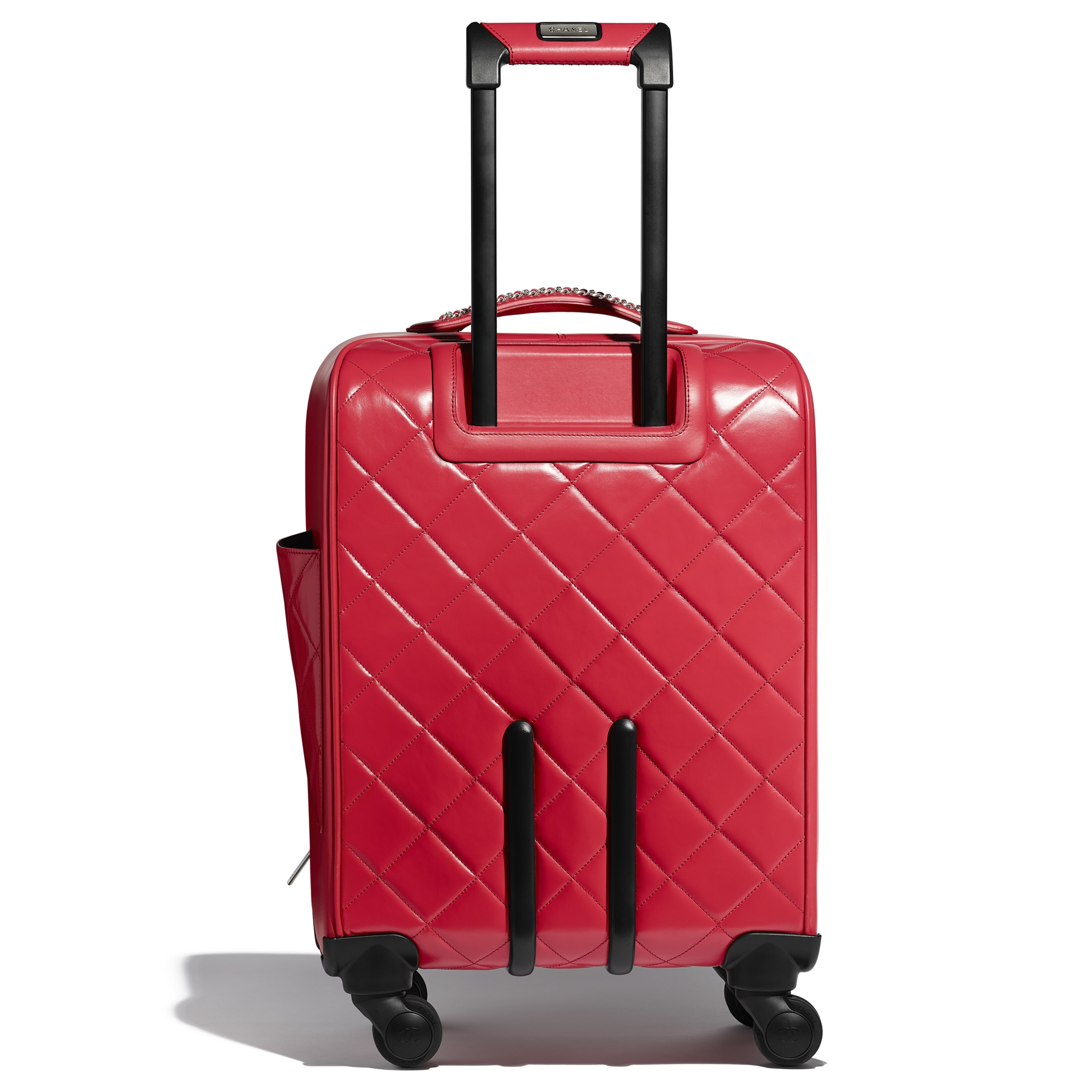 Trolley - Red - Calfskin & Silver-Tone Metal - Alternative view - see standard sized version