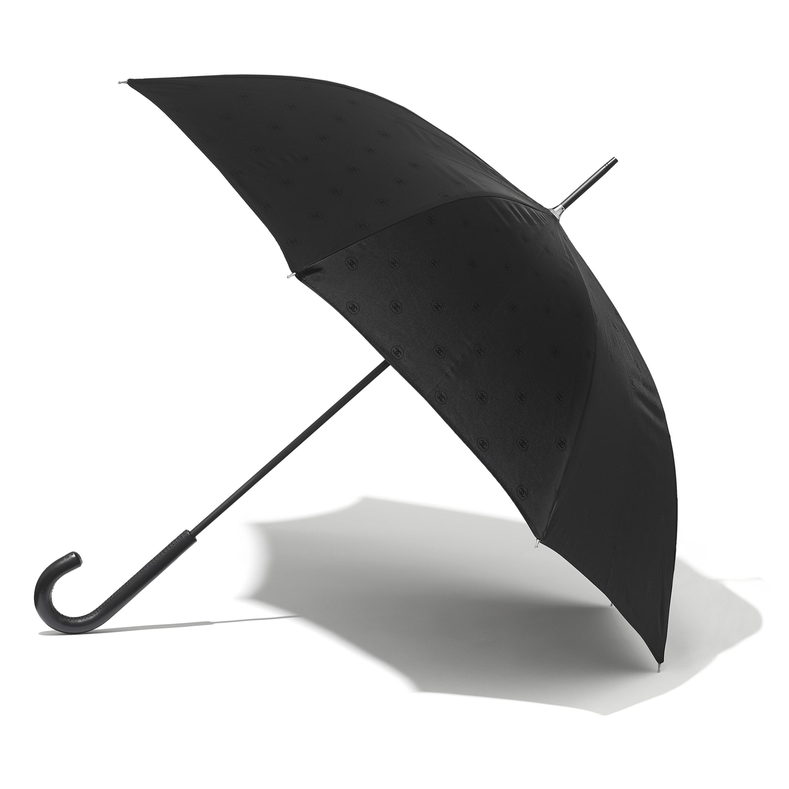 Umbrella - Black - Synthetic Fibers & Calfskin - CHANEL - Alternative view - see standard sized version