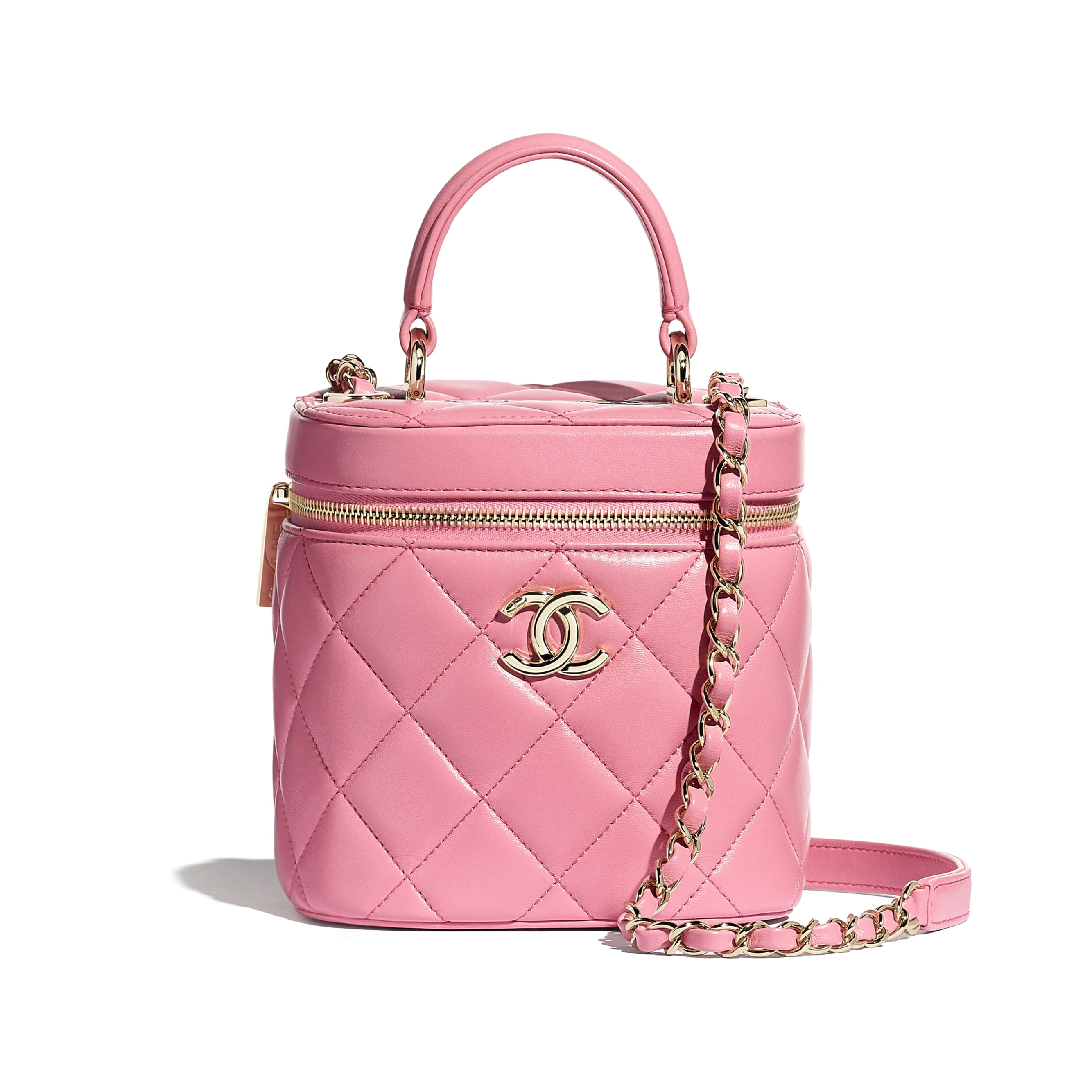 Vanity Case - Pale Pink - Lambskin - CHANEL - Default view - see standard sized version