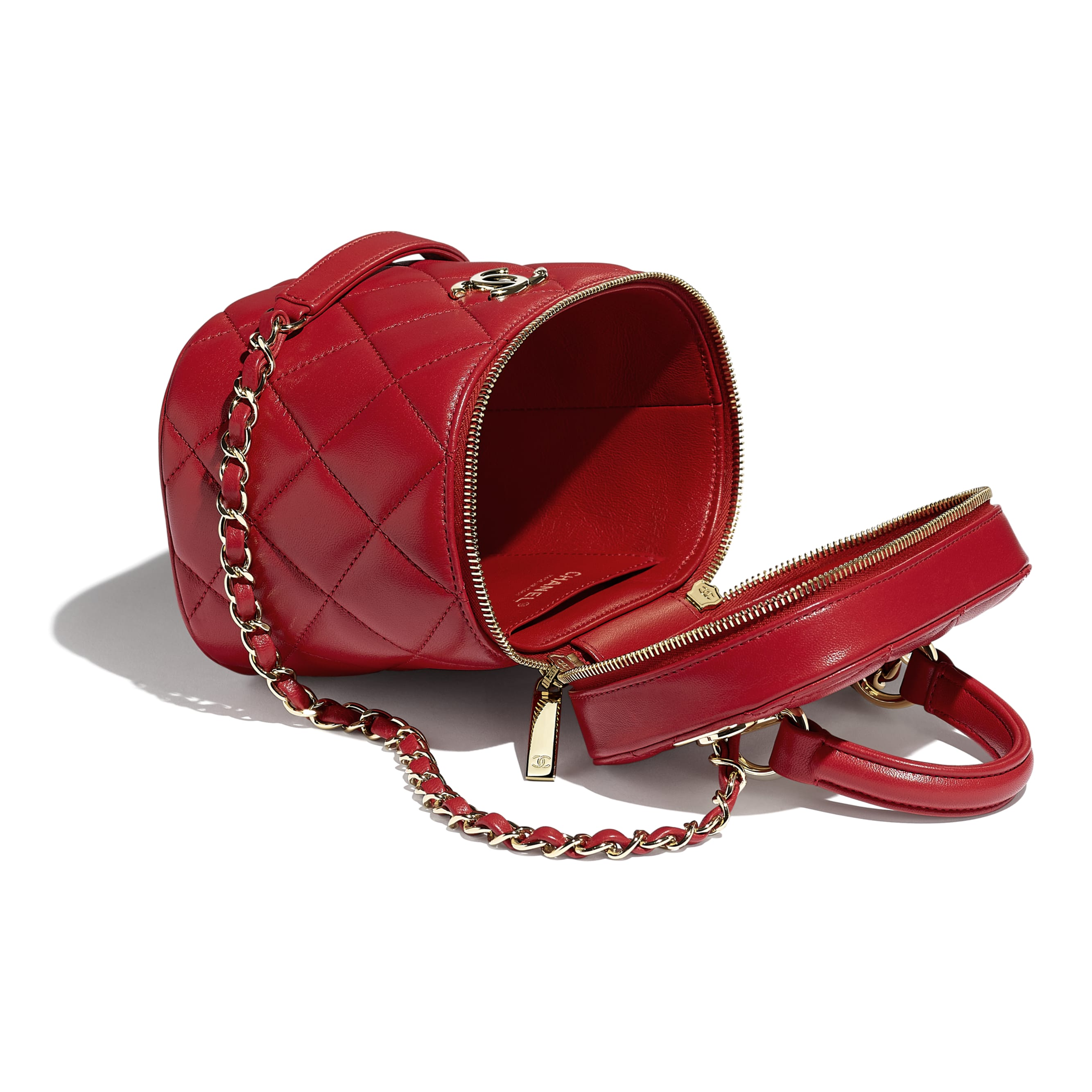 Vanity Case - Red - Lambskin - Other view - see standard sized version
