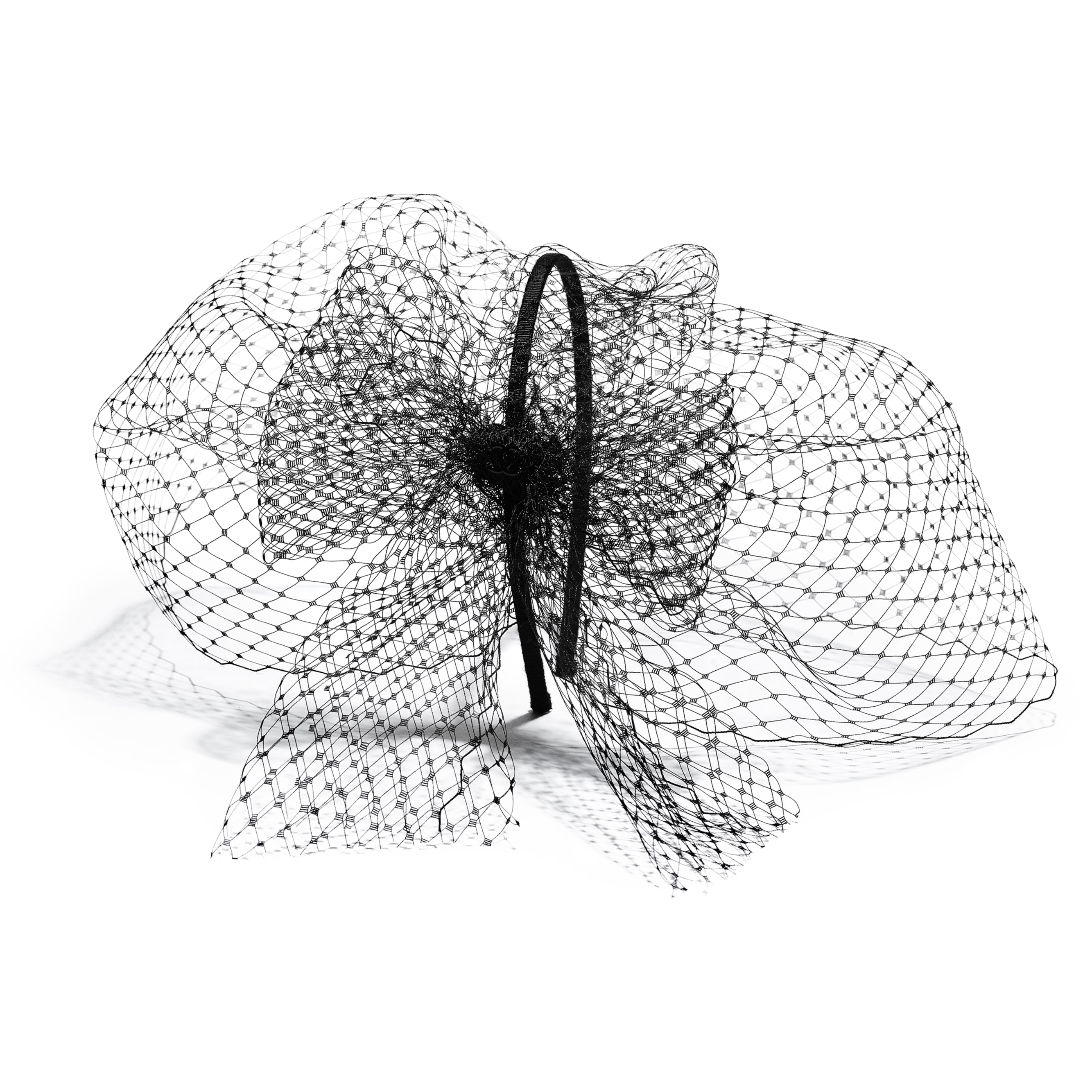 Veil - Black - Mesh & Grosgrain - CHANEL - Alternative view - see standard sized version