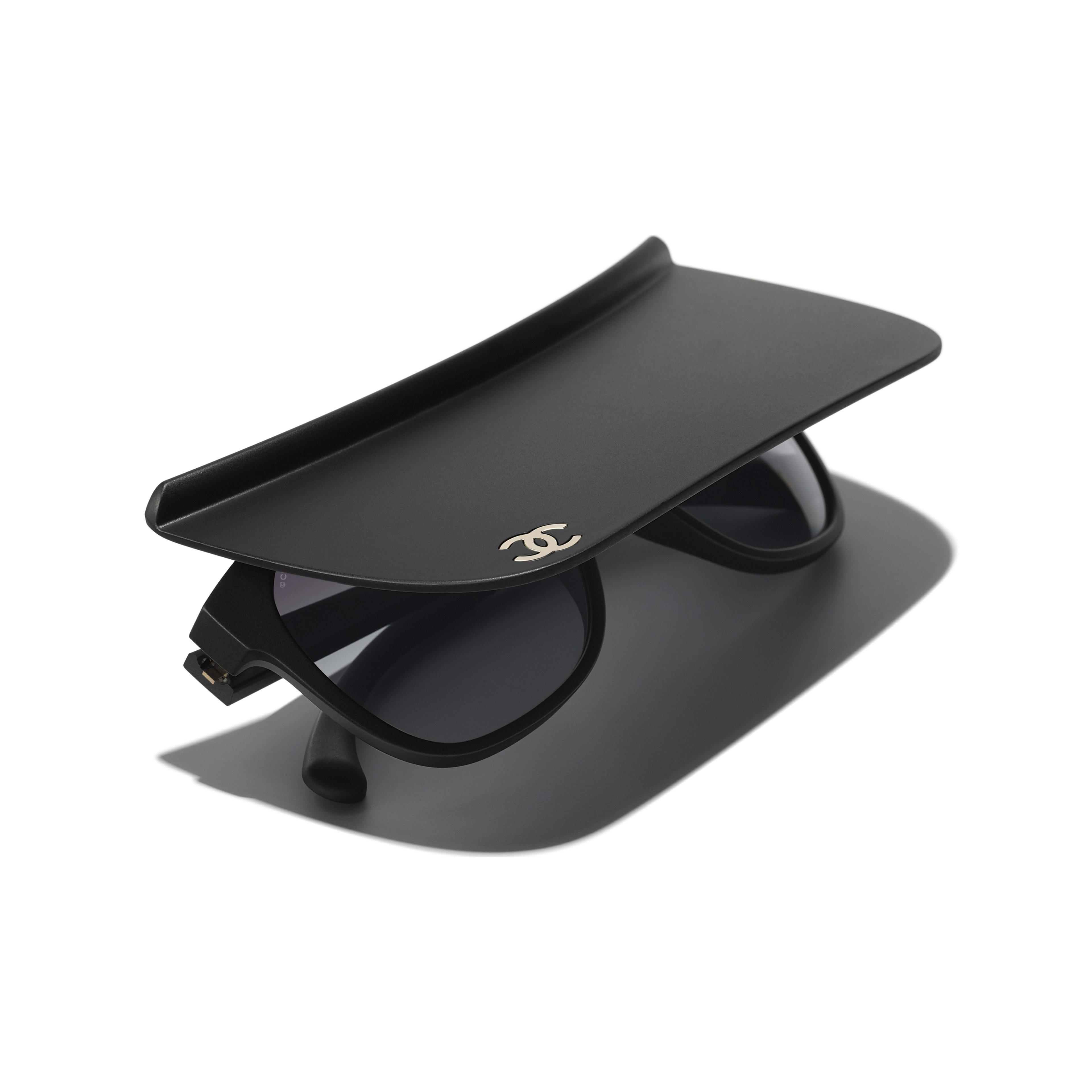 Occhiali a visiera - Nero - Nylon - CHANEL - Immagine extra - vedere versione standard