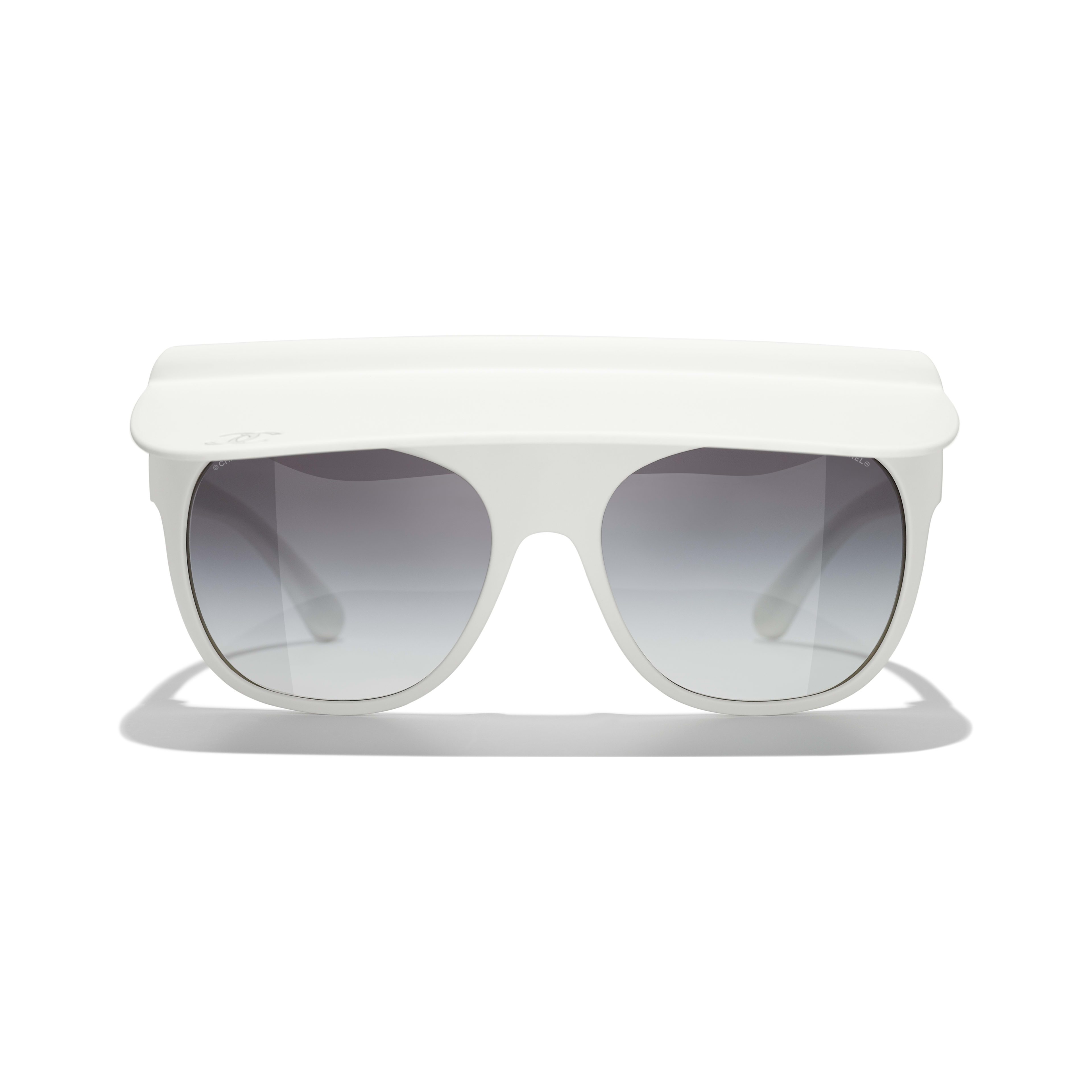 Visor Sunglasses - White - Nylon Fibre - CHANEL - Alternative view - see standard sized version