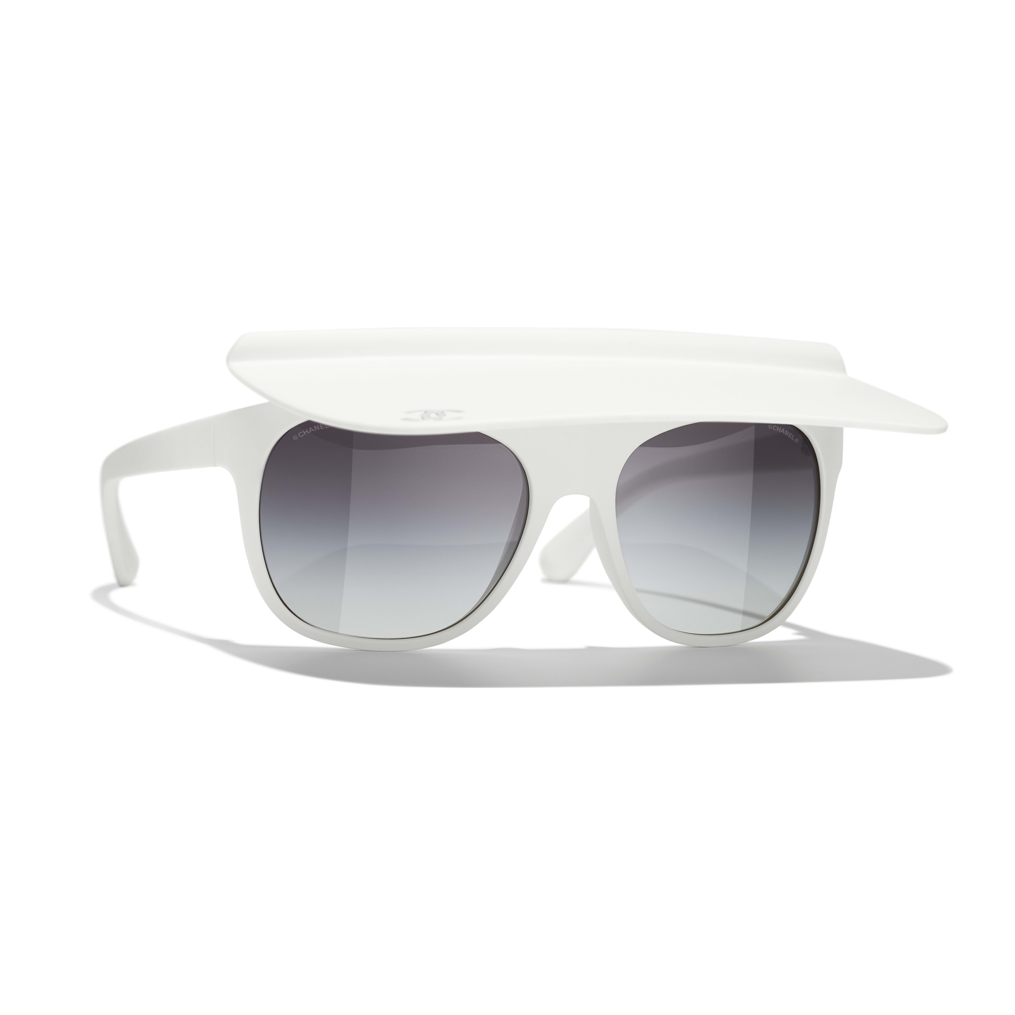Visor Sunglasses - White - Nylon Fibre - CHANEL - Default view - see standard sized version