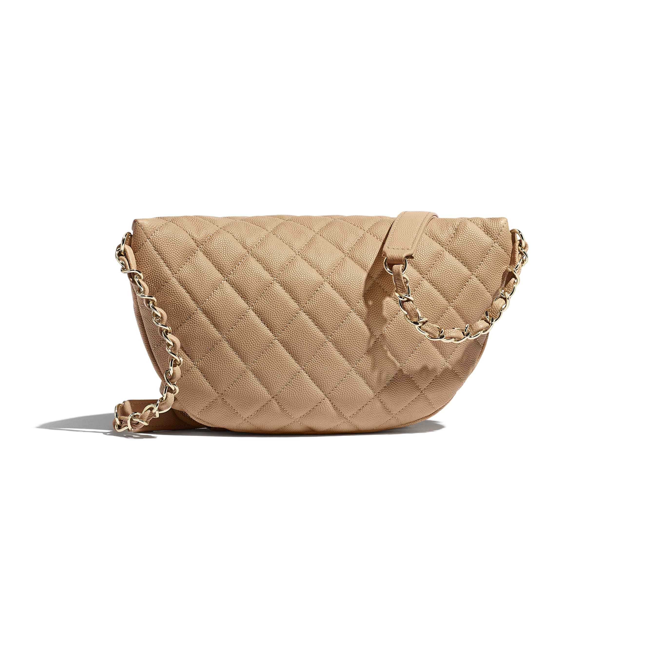 Waist Bag - Beige - Grained Calfskin & Gold-Tone Metal - CHANEL - Alternative view - see standard sized version