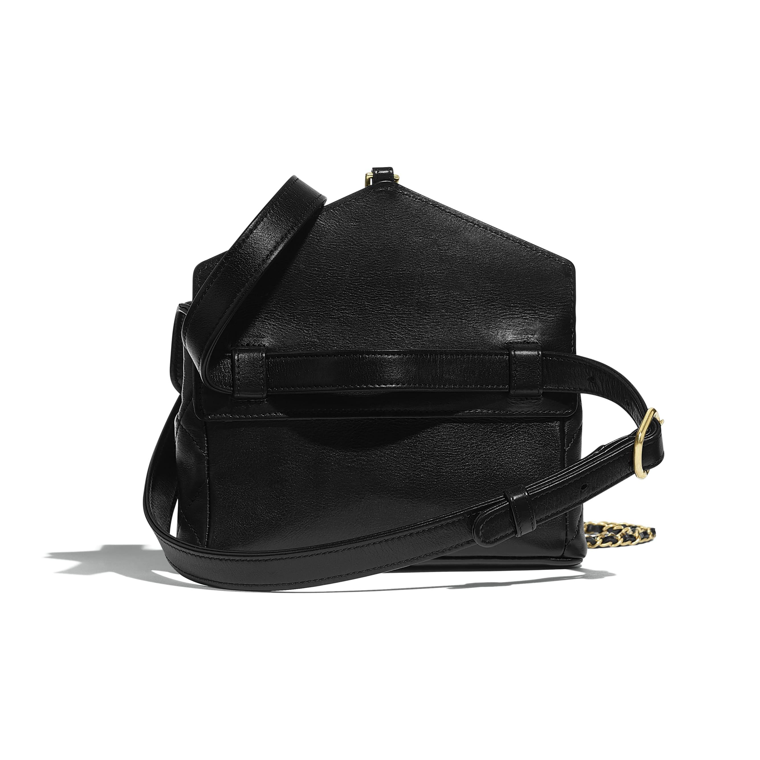 Waist Bag - Black - Calfskin & Gold-Tone Metal - Alternative view - see standard sized version