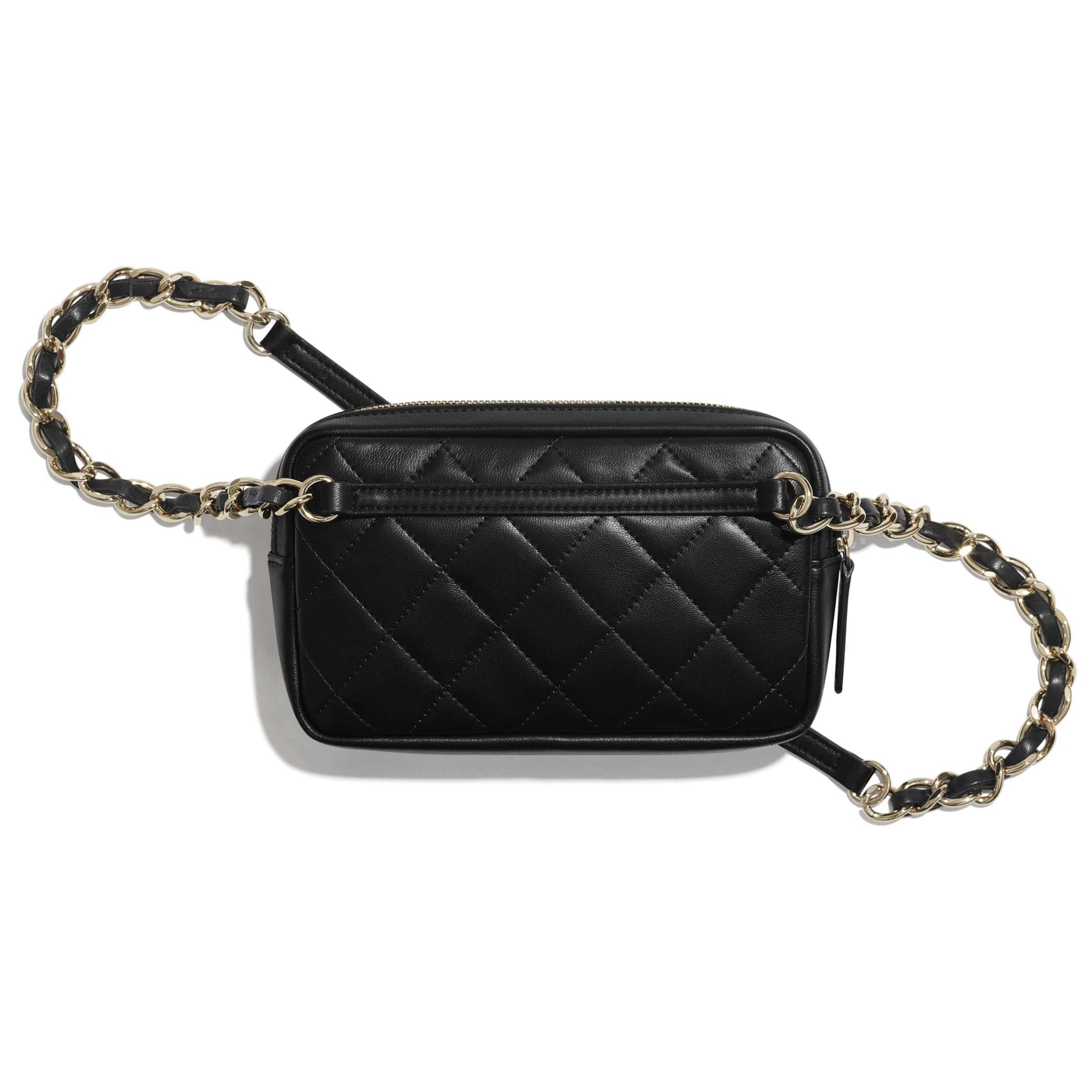Waist bag - Black - Lambskin & Gold-Tone Metal - CHANEL - Alternative view - see standard sized version