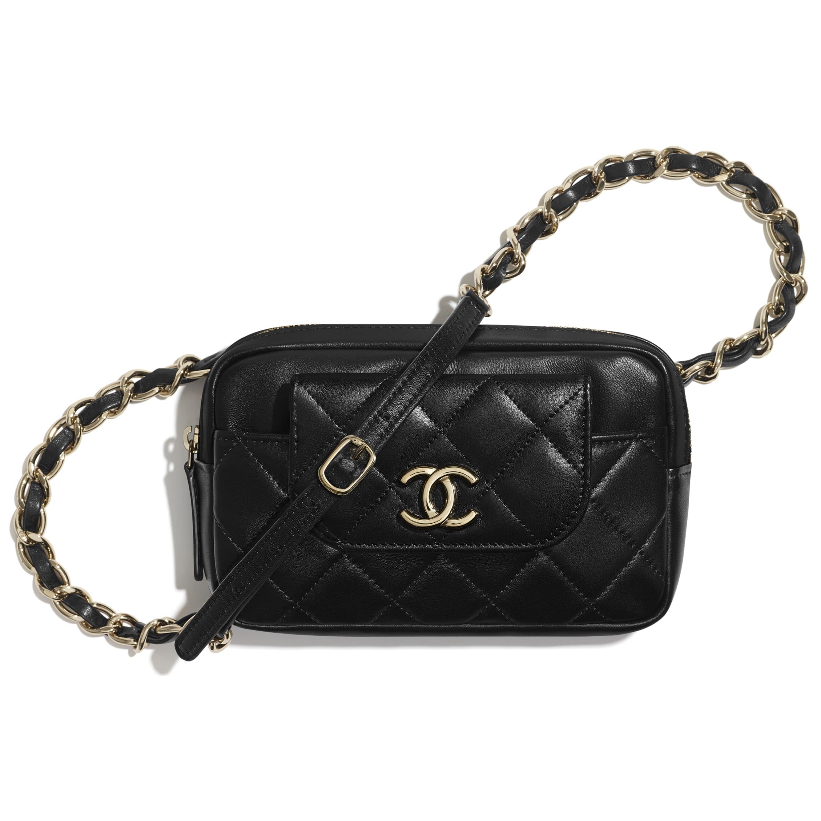 Waist bag - Black - Lambskin & Gold-Tone Metal - CHANEL - Default view - see standard sized version