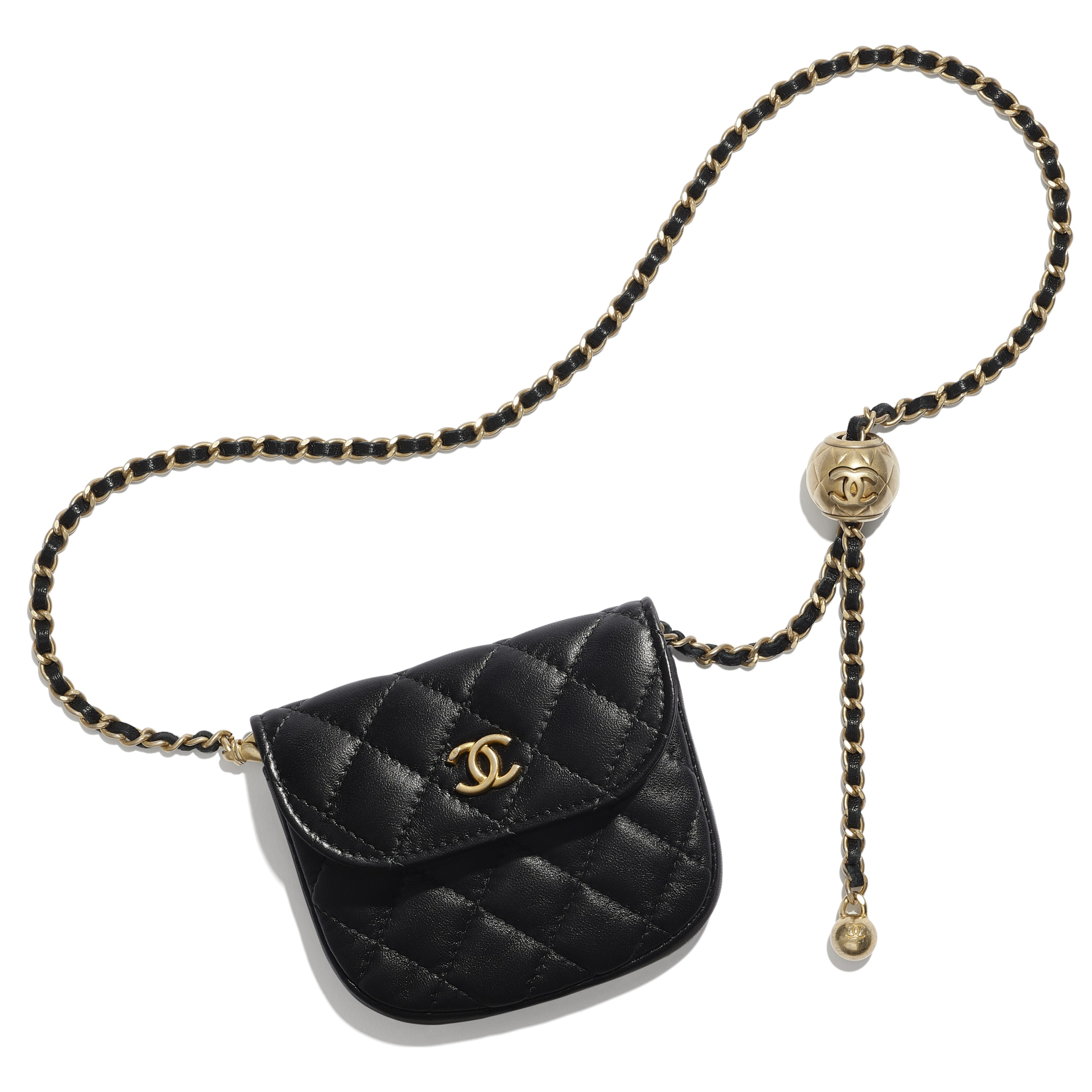 Waist bag - Black - Lambskin - CHANEL - Default view - see standard sized version