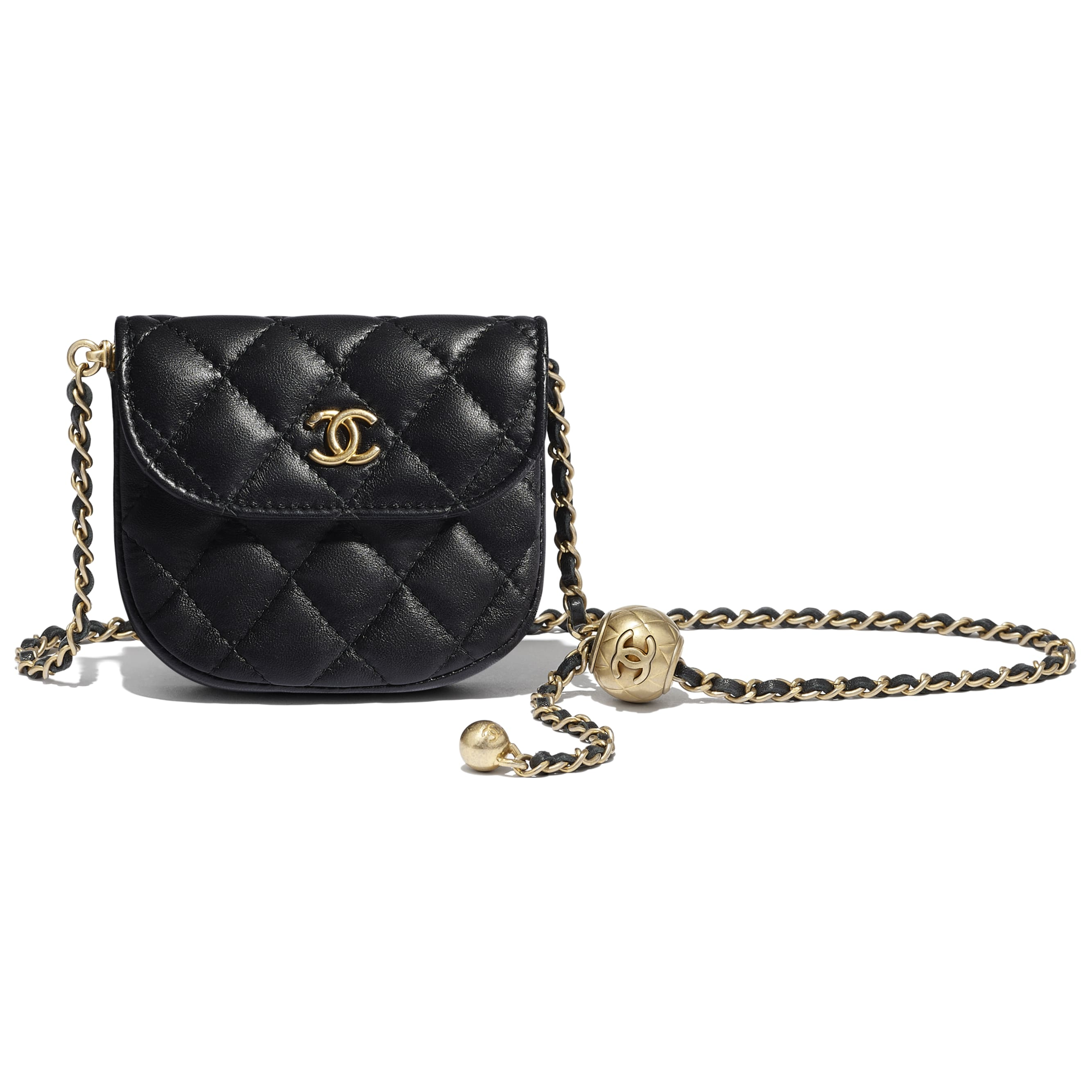 Waist bag - Black - Lambskin - CHANEL - Other view - see standard sized version