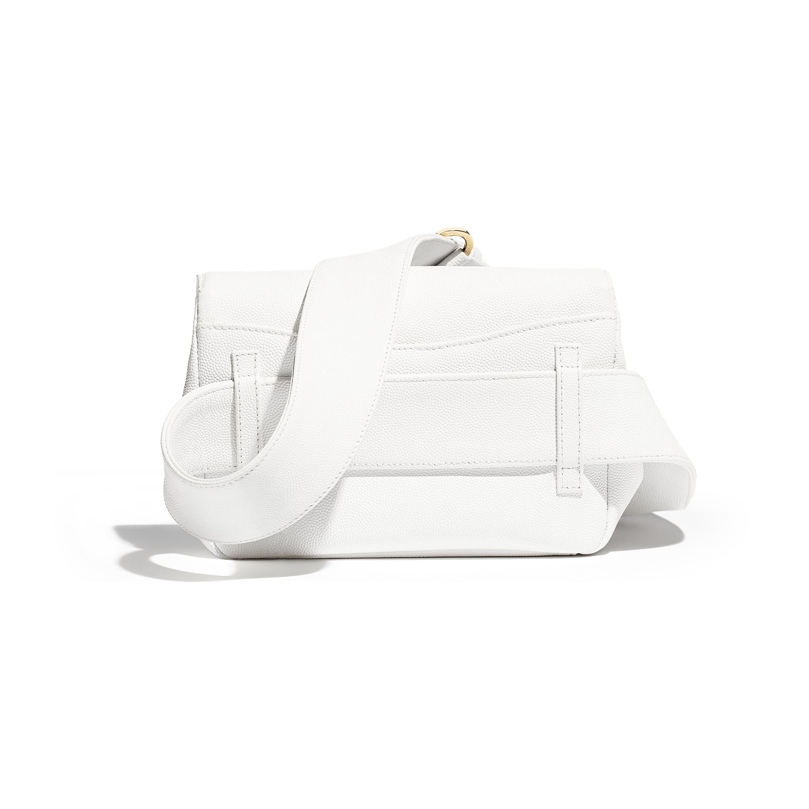 Waist Bag - White - Embroidered Grained Calfskin & Gold-Tone Metal - Alternative view - see standard sized version