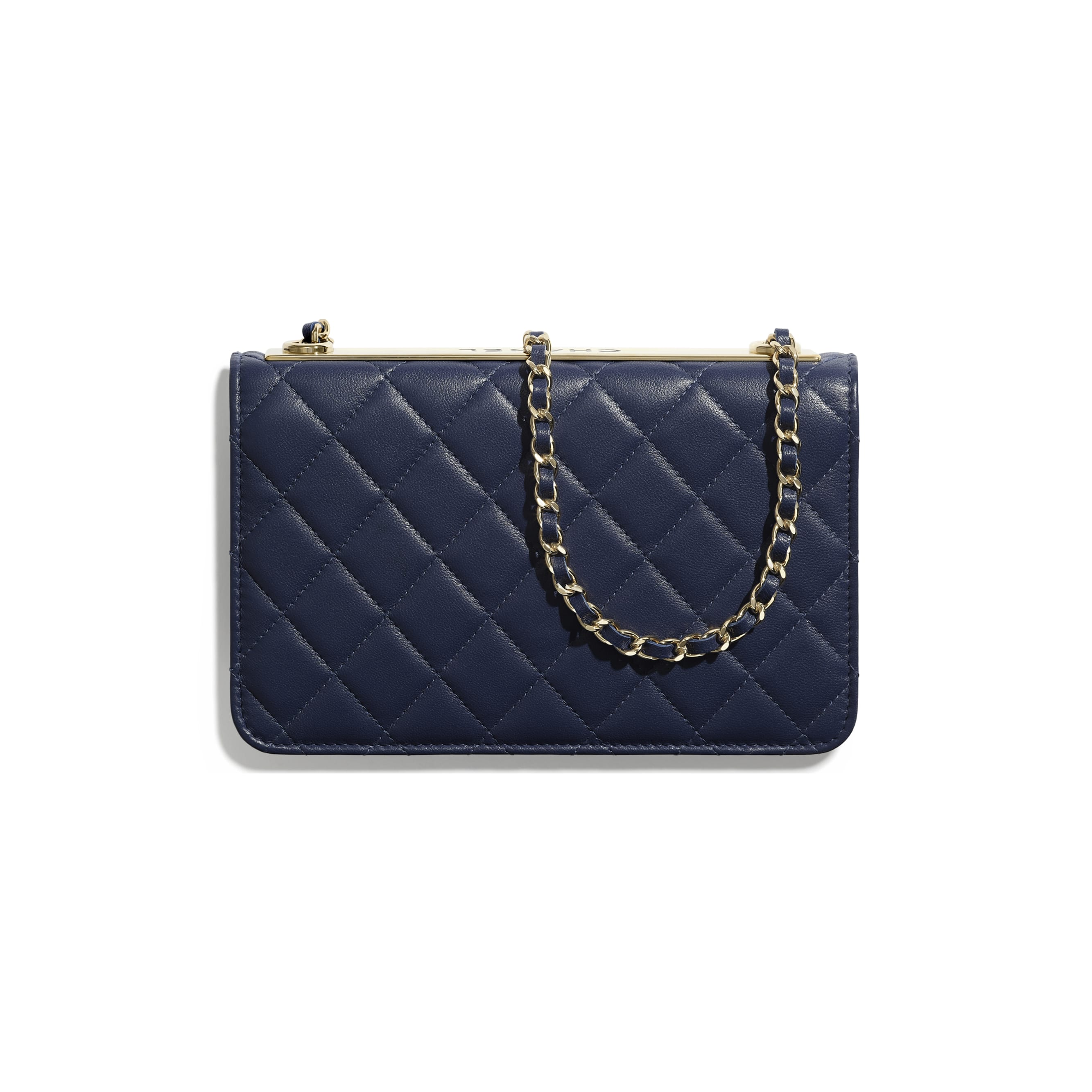 Wallet On Chain - Navy Blue - Lambskin - Alternative view - see standard sized version