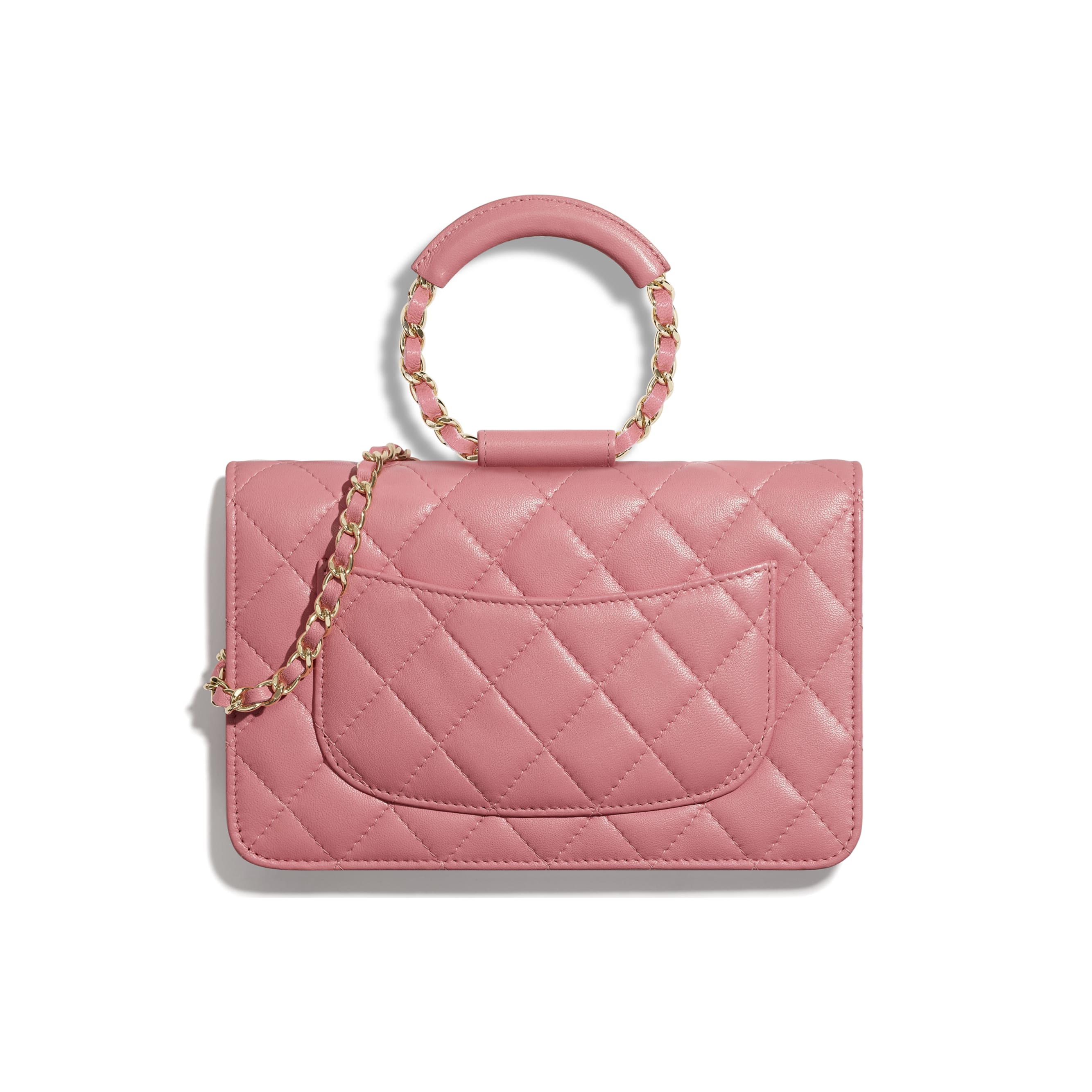 Wallet On Chain - Pink - Lambskin - Alternative view - see standard sized version