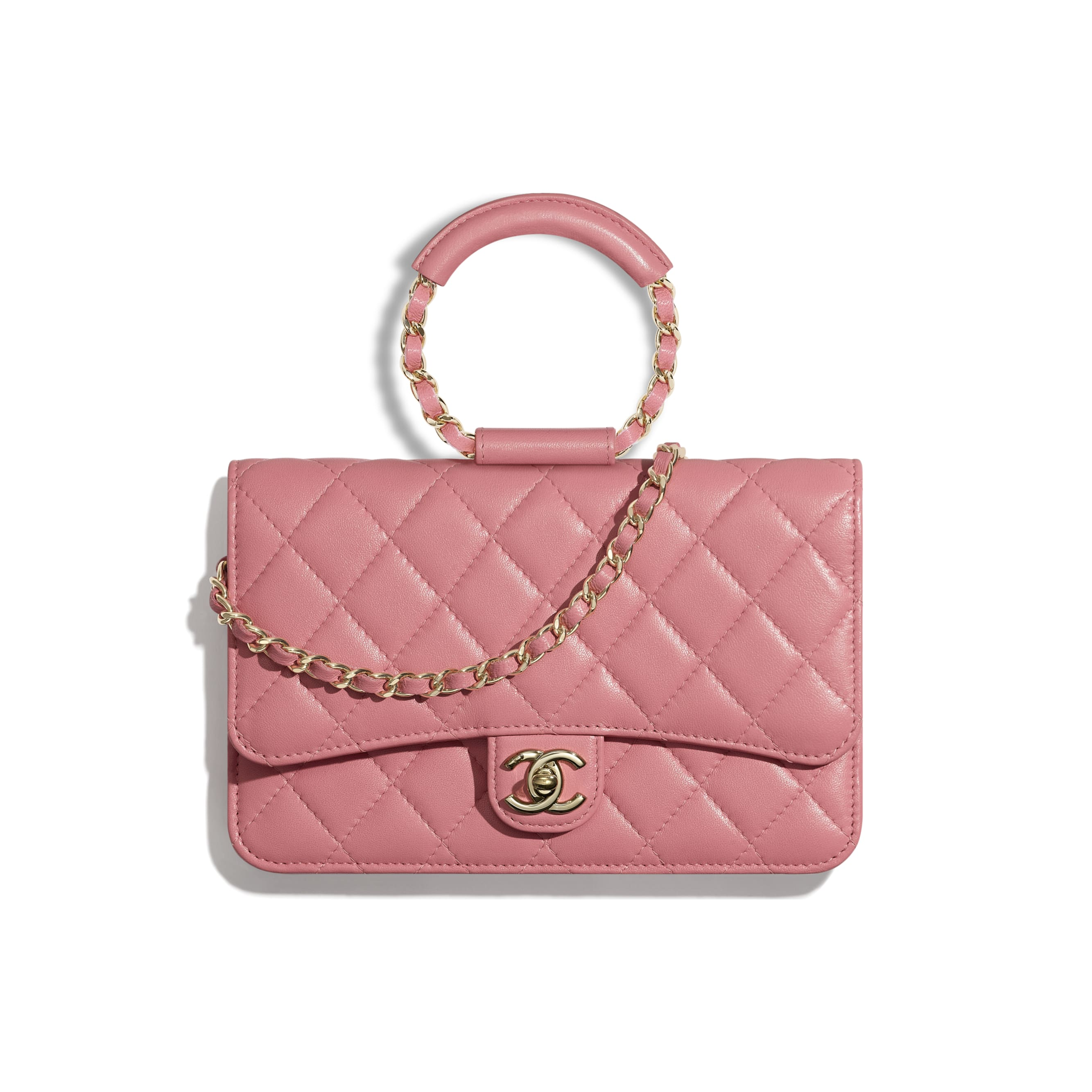 Wallet On Chain - Pink - Lambskin - Default view - see standard sized version