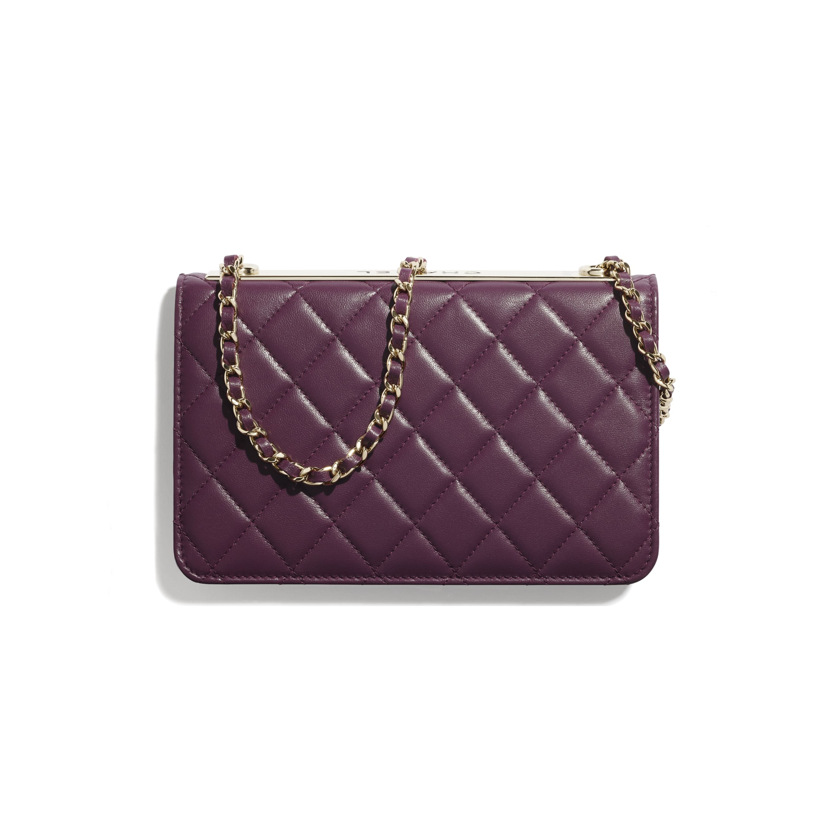 Wallet On Chain - Purple - Lambskin - CHANEL - Alternative view - see standard sized version