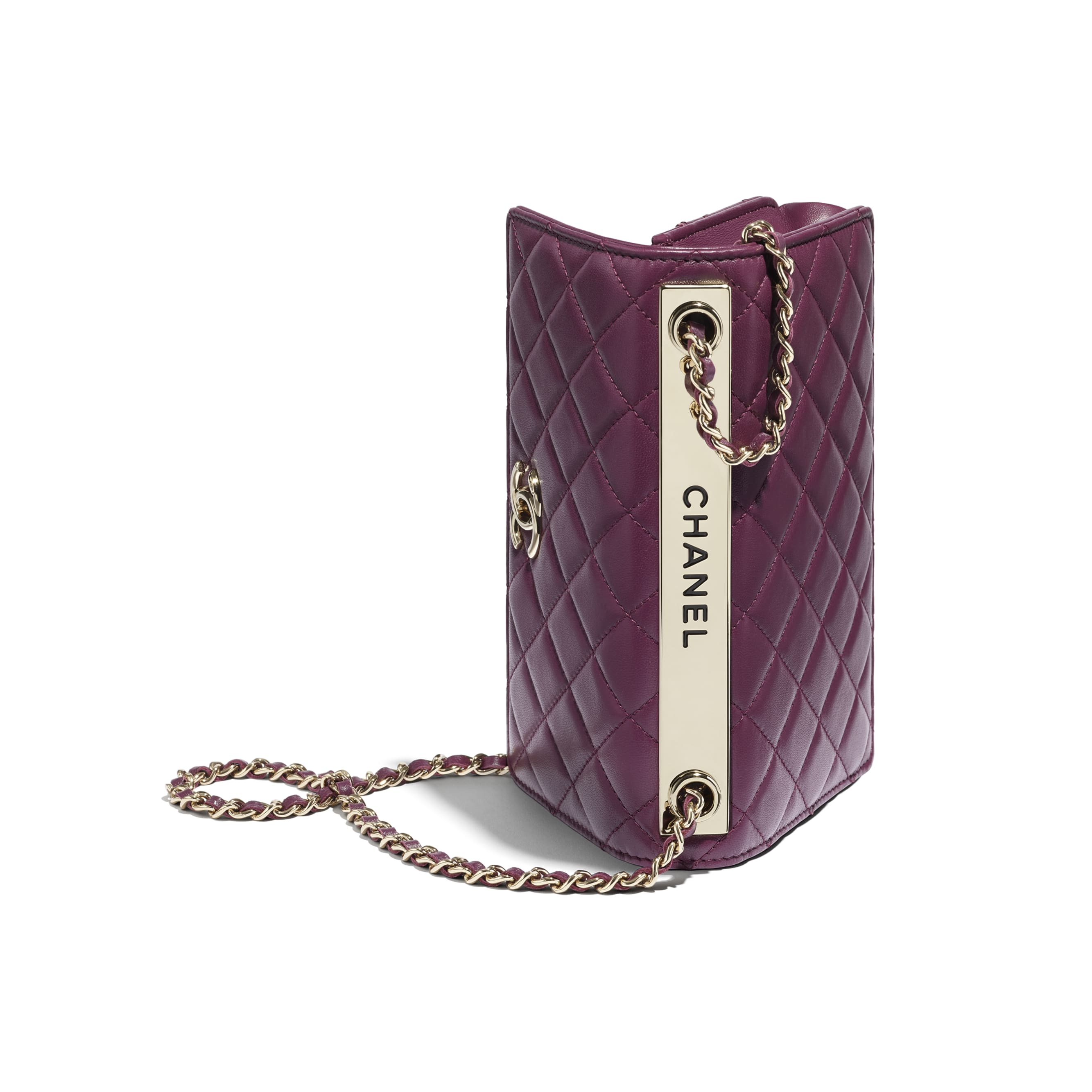 Wallet On Chain - Purple - Lambskin - CHANEL - Extra view - see standard sized version