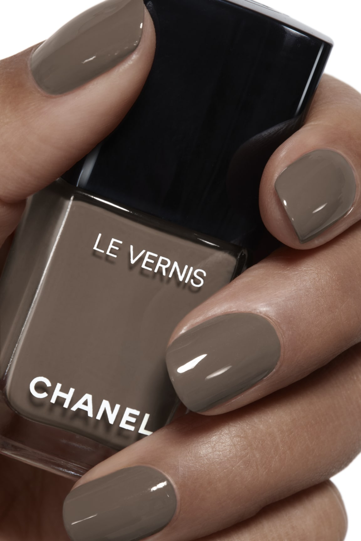 Пример нанесения макияжа 1 - LE VERNIS 905 - BRUN FUMÉ