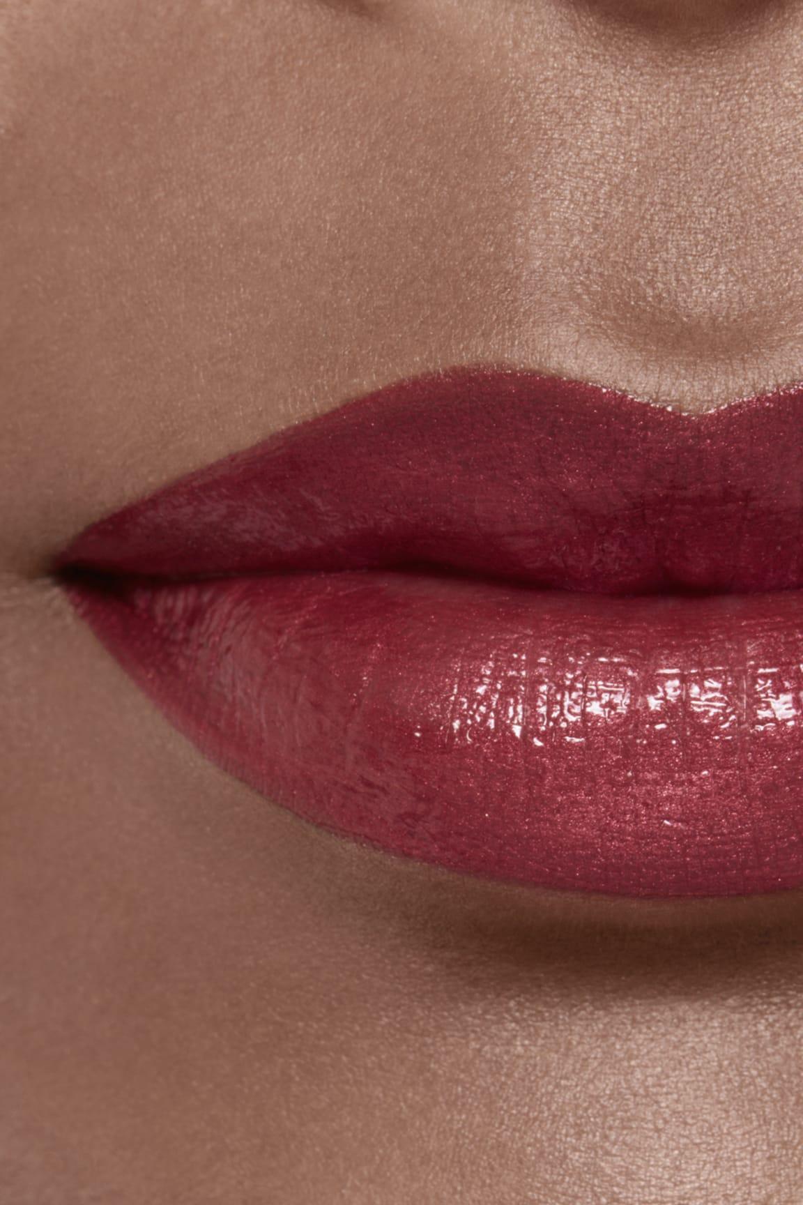 Application makeup visual 2 - ROUGE ALLURE LAQUE 77 - DARK BLOSSOM