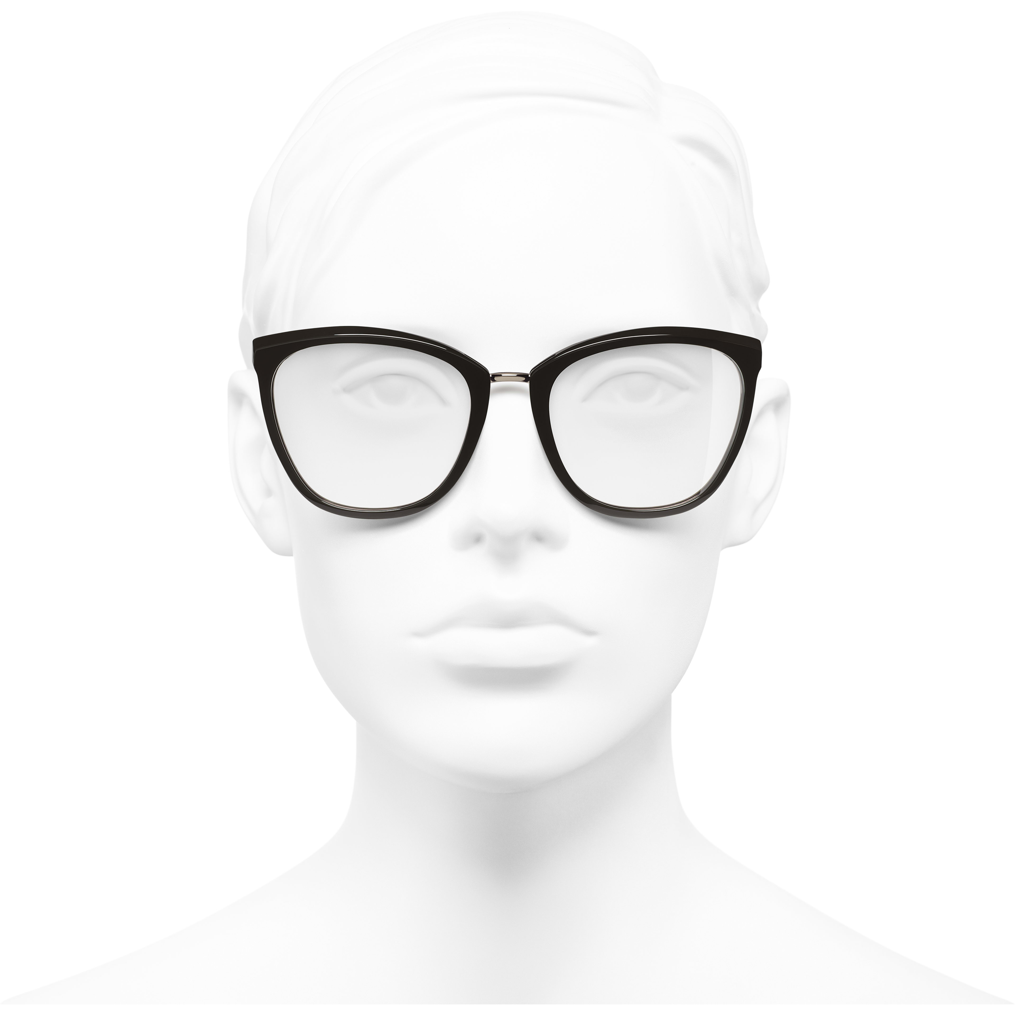 8dde3616156d ... Butterfly Eyeglasses - Brown - Acetate   Metal - Worn front view - see  standard sized