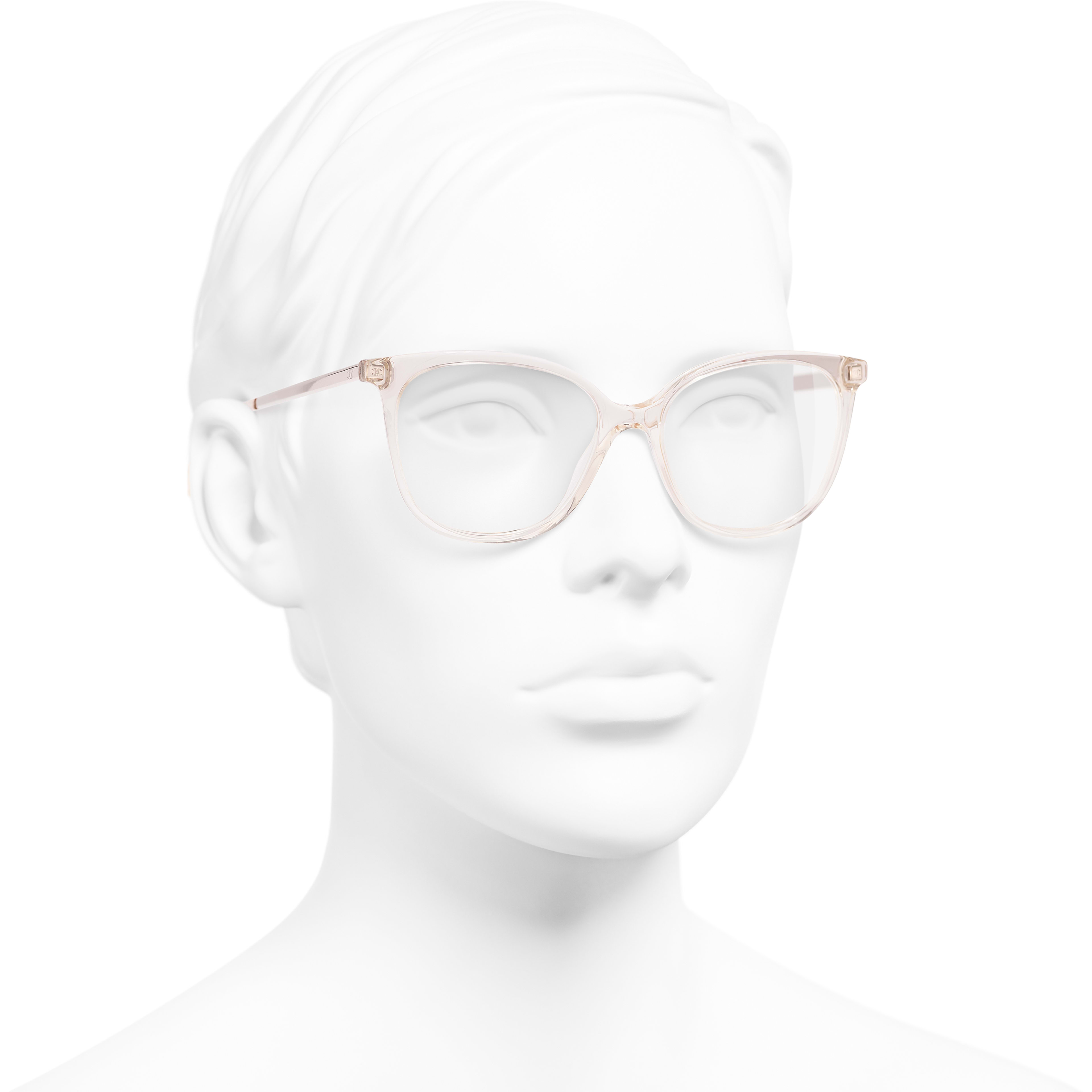 Butterfly Eyeglasses - Pink - Acetate & Metal - Worn 3/4 view - see standard sized version